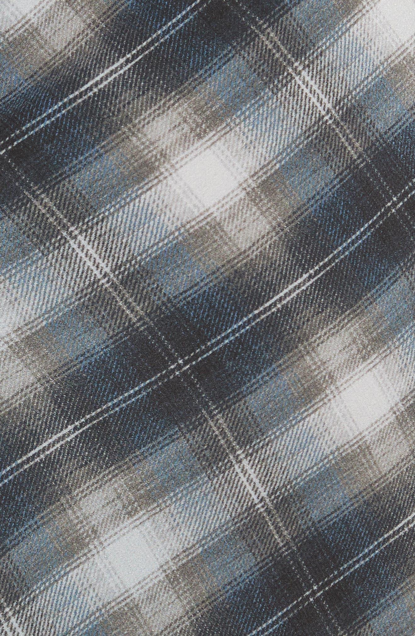 Alternate Image 5  - Vince Shadow Plaid Midi Silk Skirt