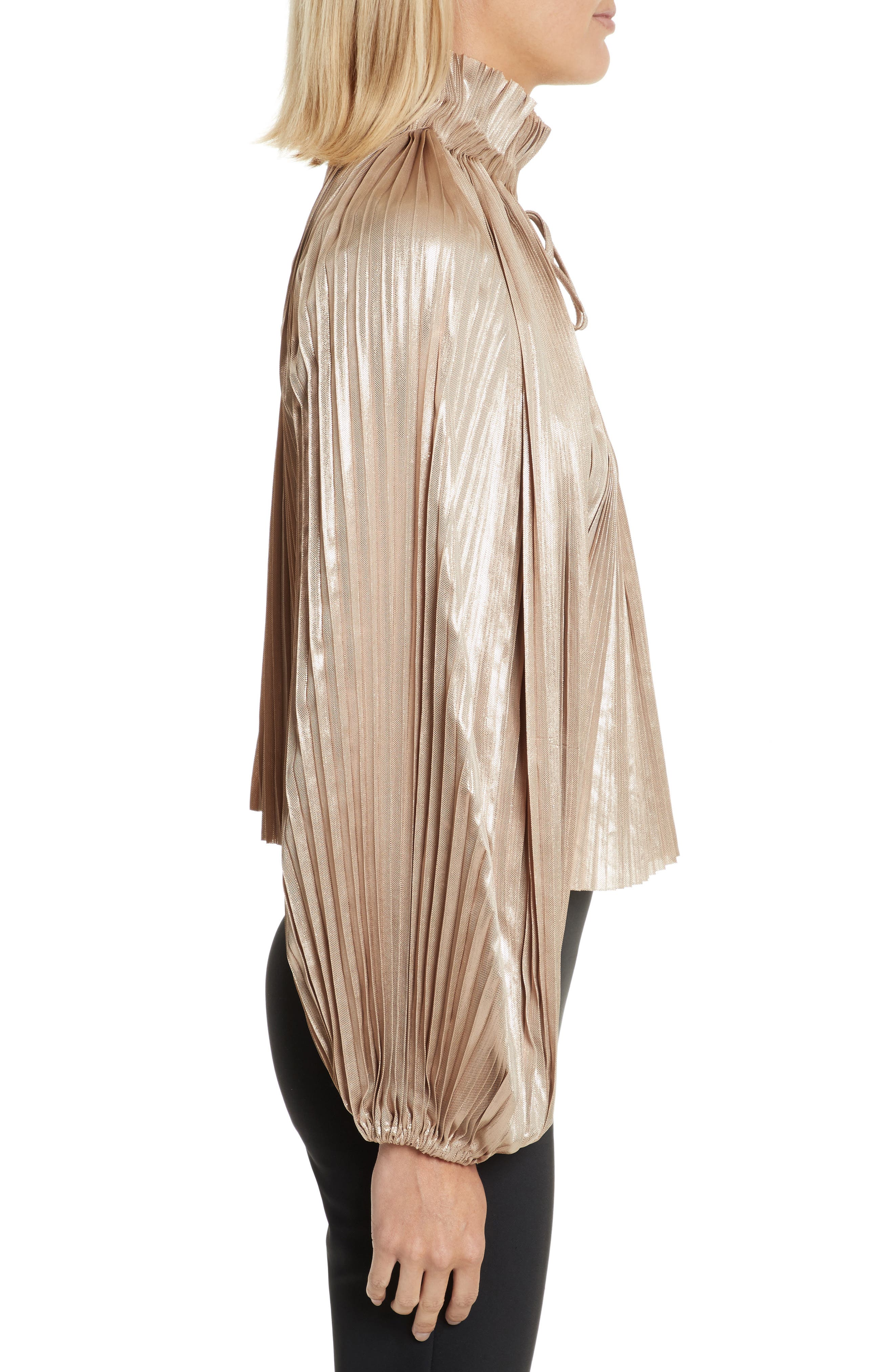 Alternate Image 3  - Opening Ceremony Foil Pleated Top