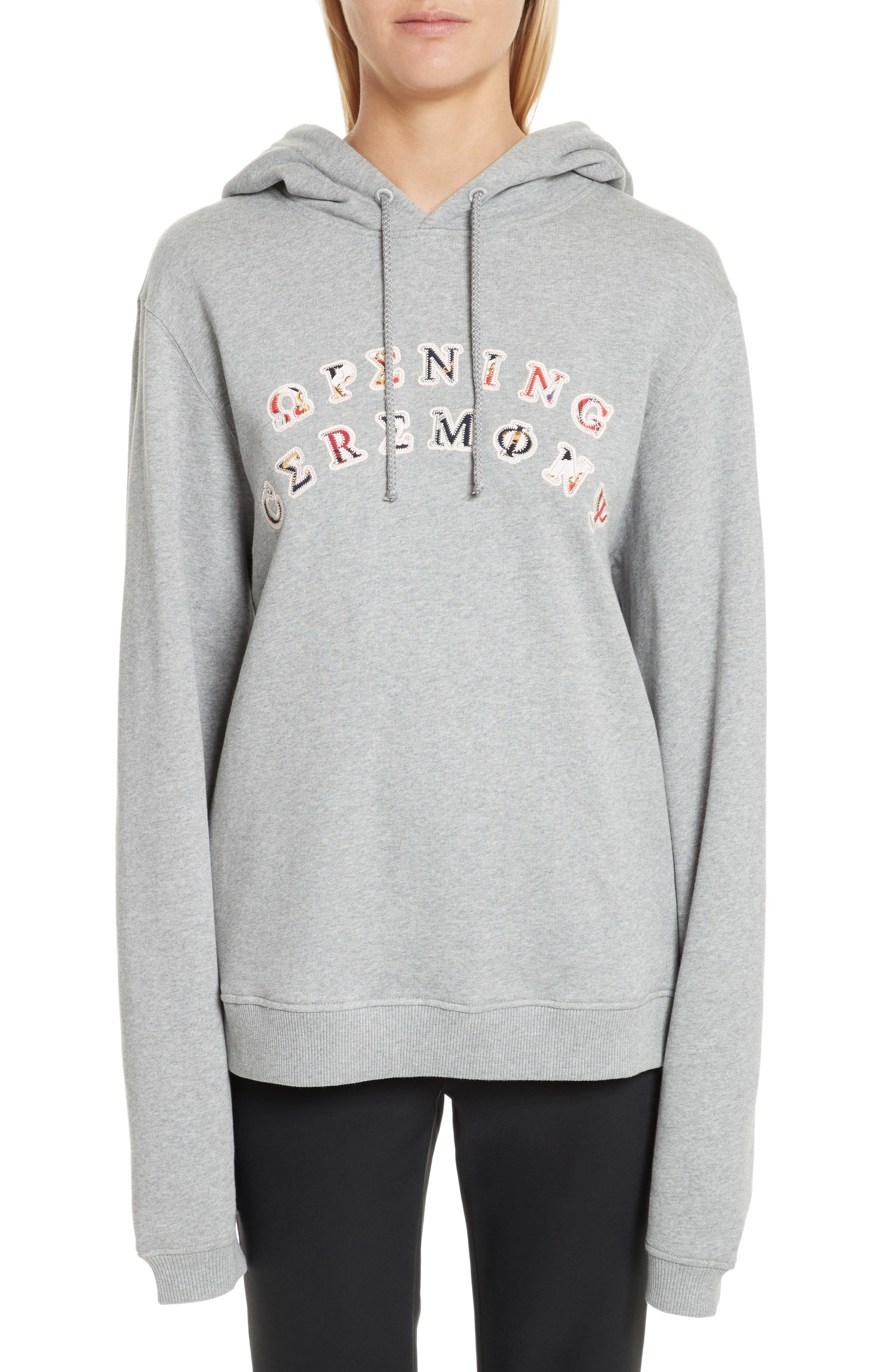 OC Patch Hoodie,                         Main,                         color, Heather Grey