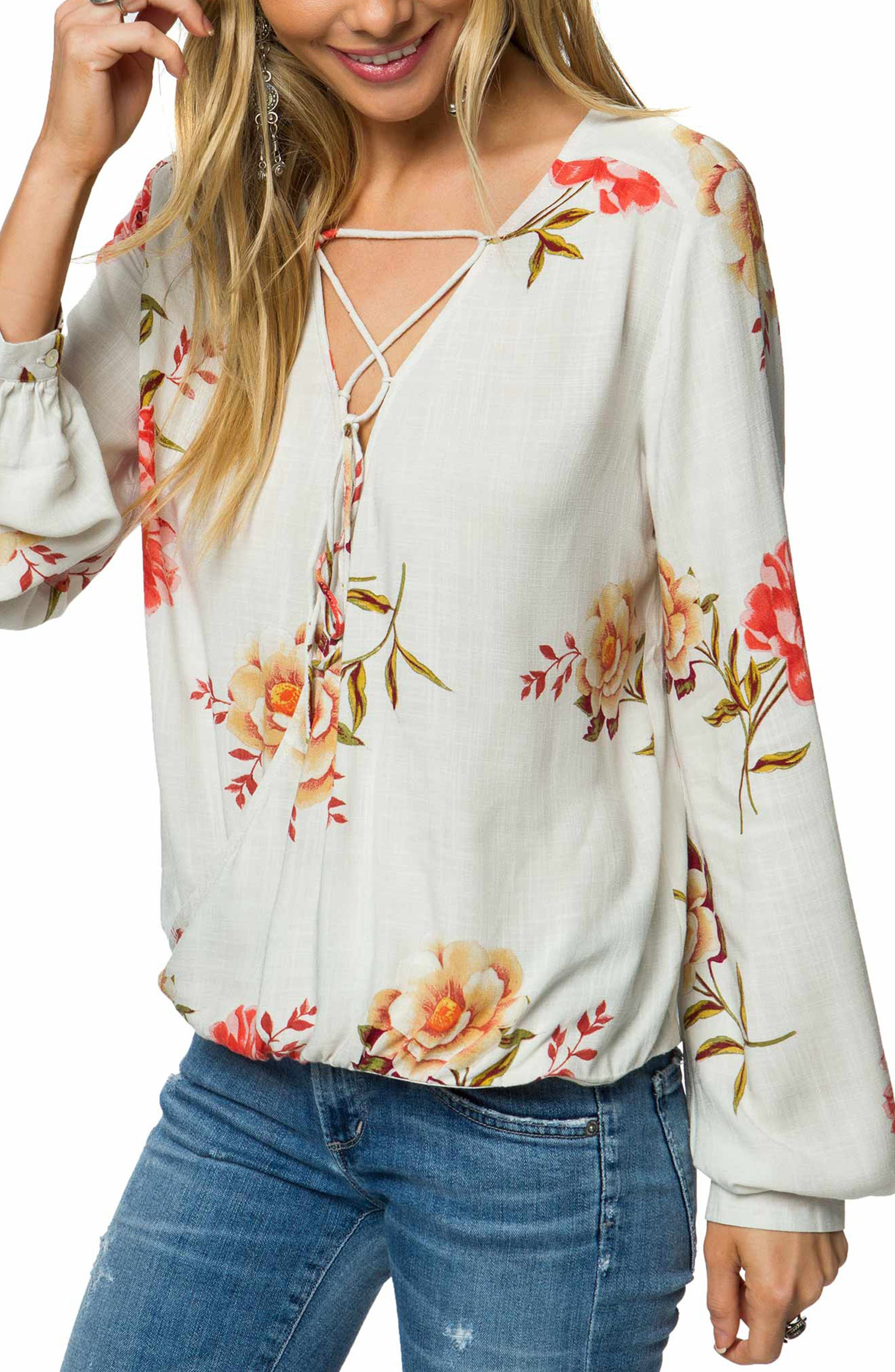 O'Neill Belle Lace Up Blouse