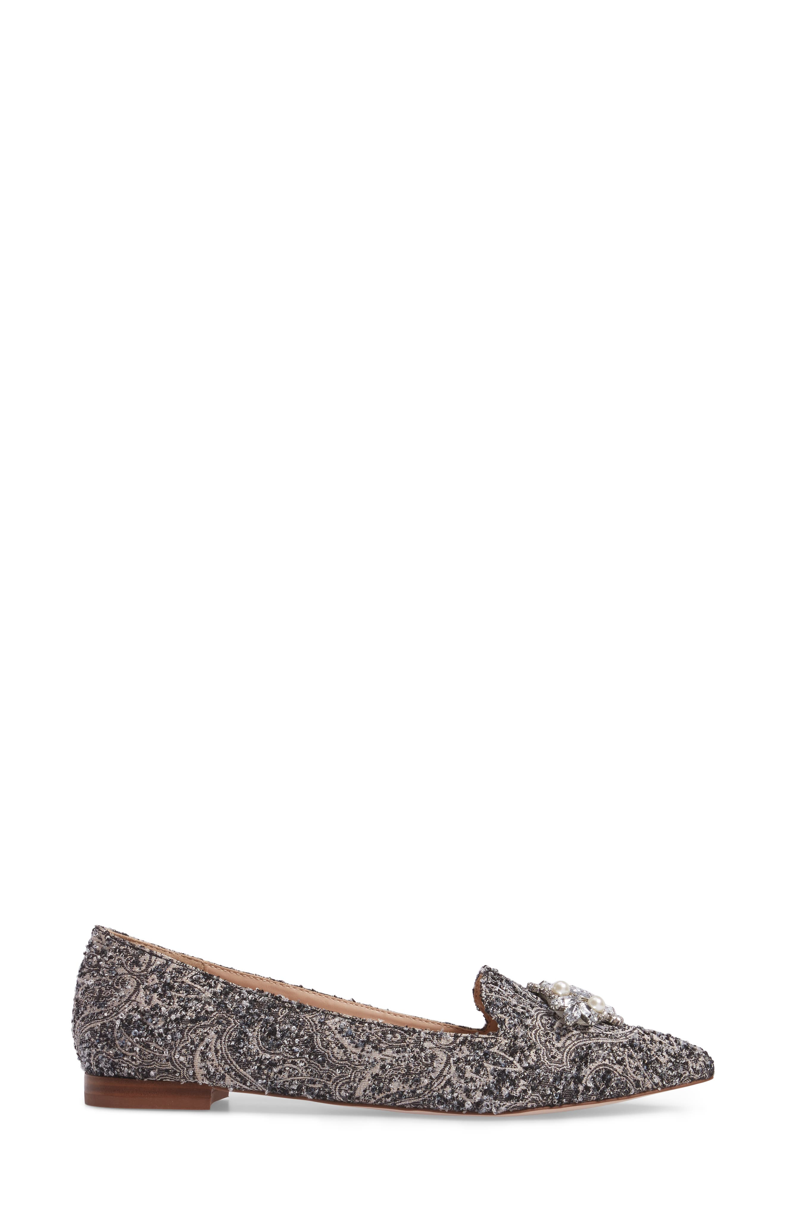 Alternate Image 3  - Sole Society Libry Crystal Embellished Flat (Women)