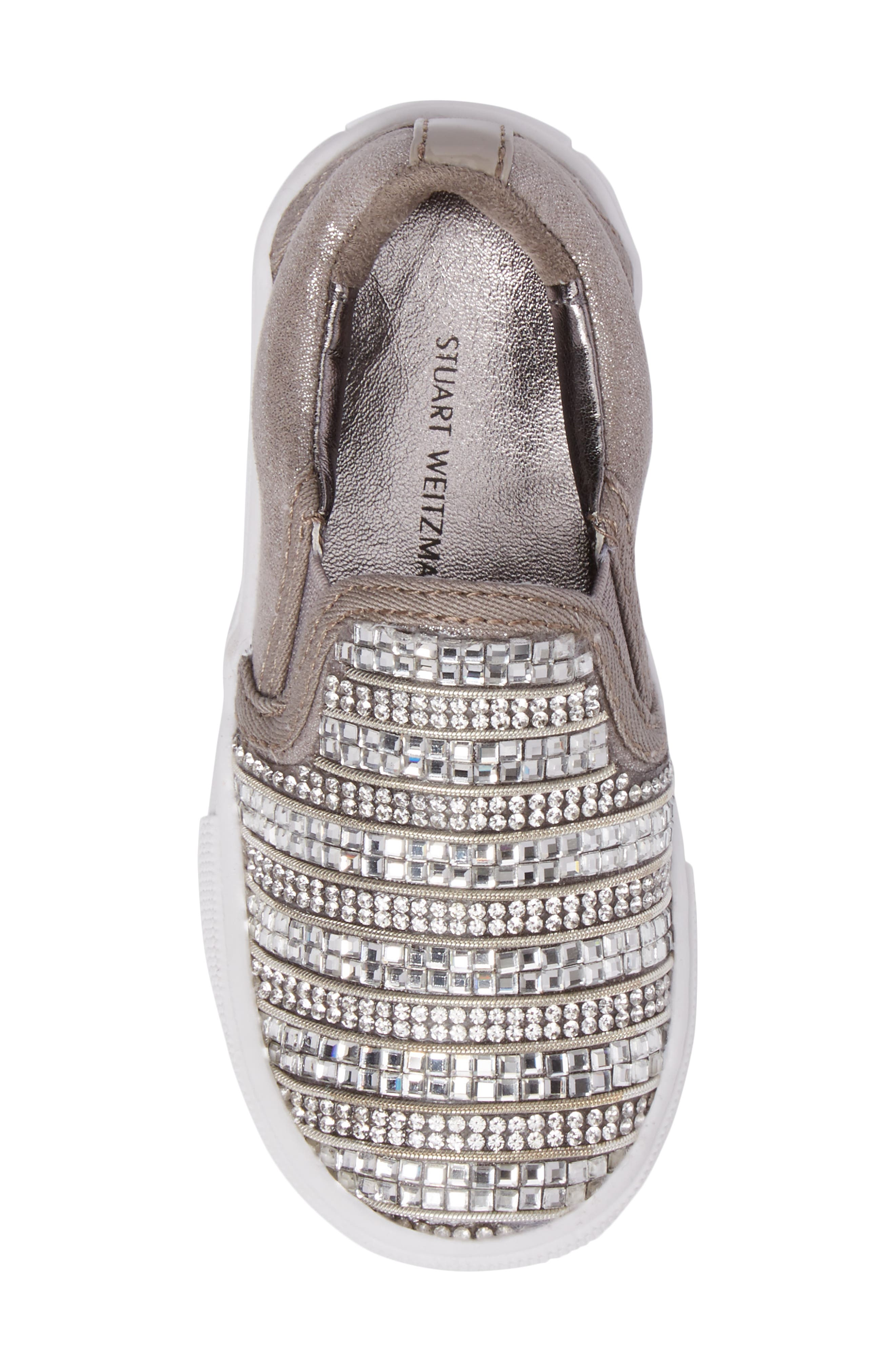 Alternate Image 5  - Stuart Weitzman Vance Glitz Embellished Slip-On Sneaker (Walker & Toddler)