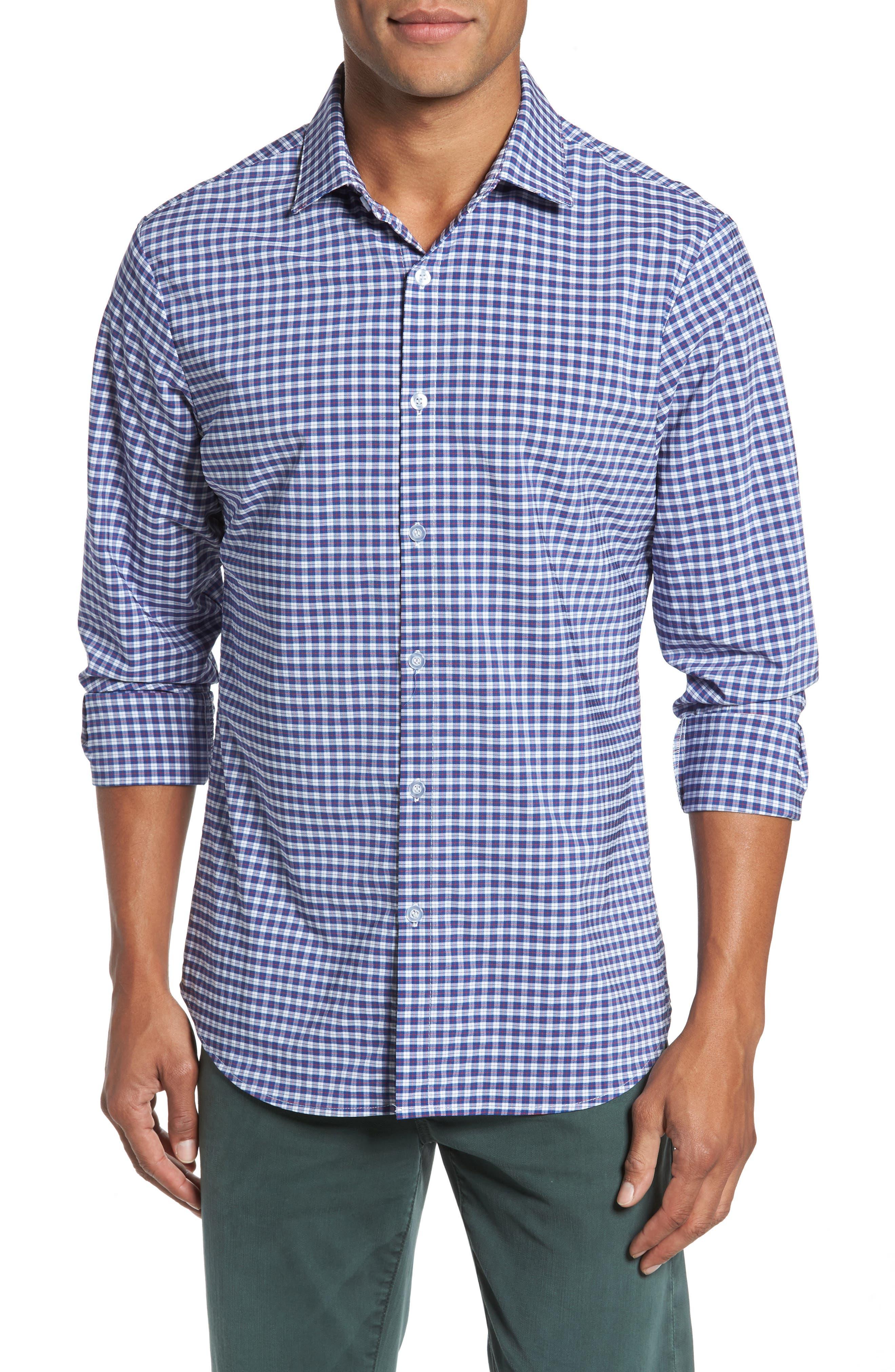 Howe 2.0 Plaid Sport Shirt,                         Main,                         color, Multi