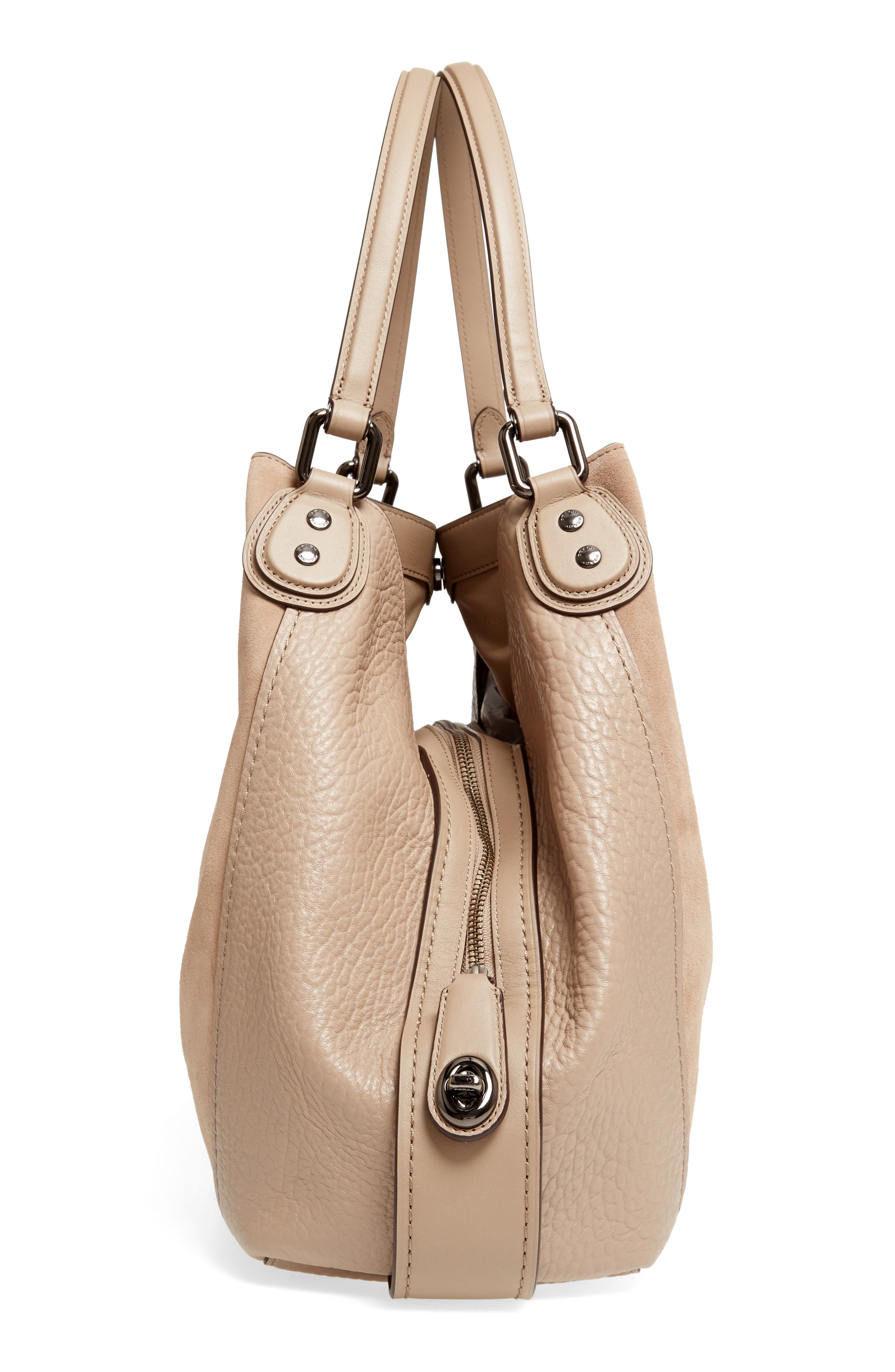 Alternate Image 5  - COACH Edie Suede & Leather Shoulder Bag