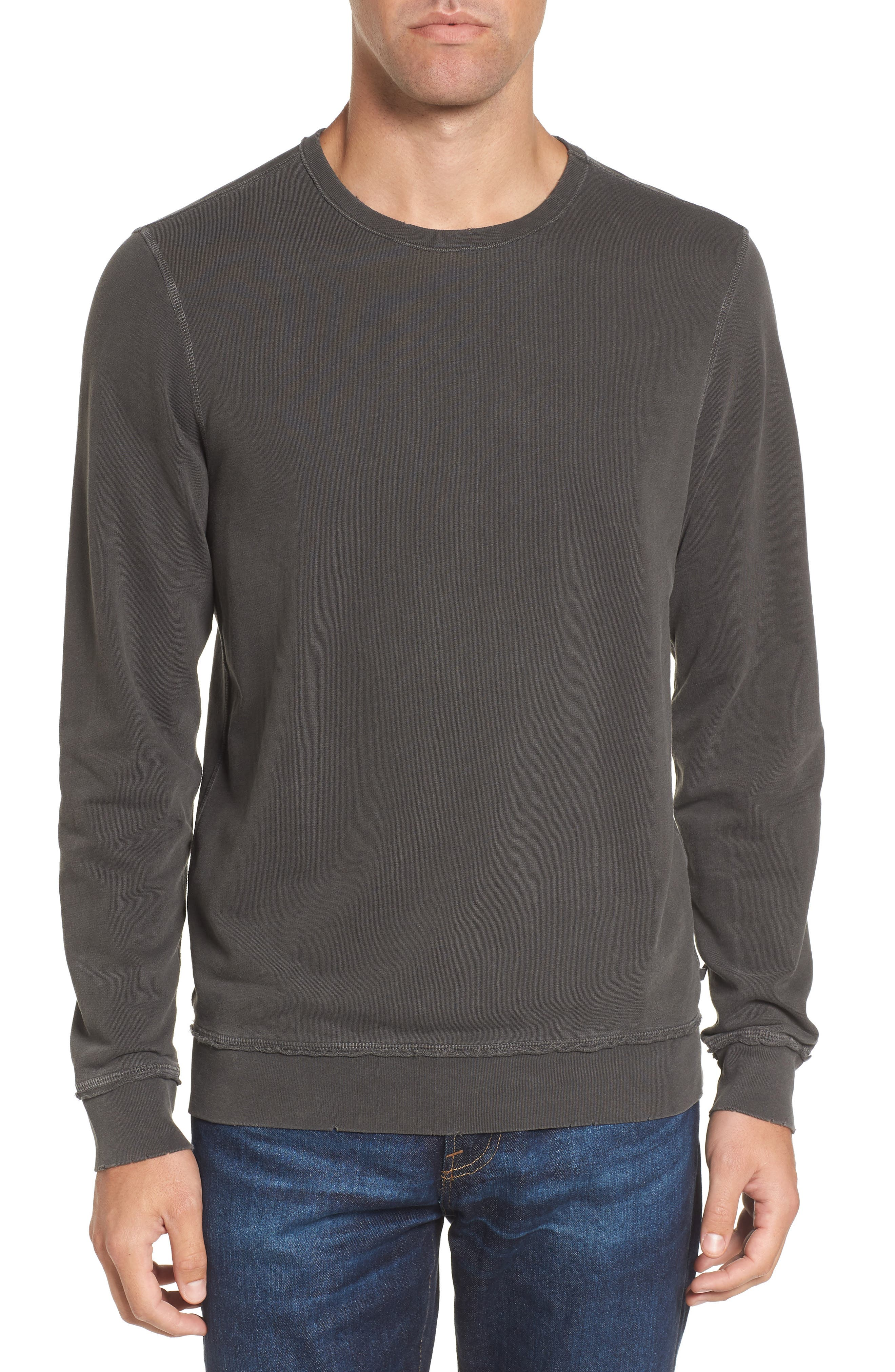 AG Brendan Raw Edge Crewneck Sweatshirt
