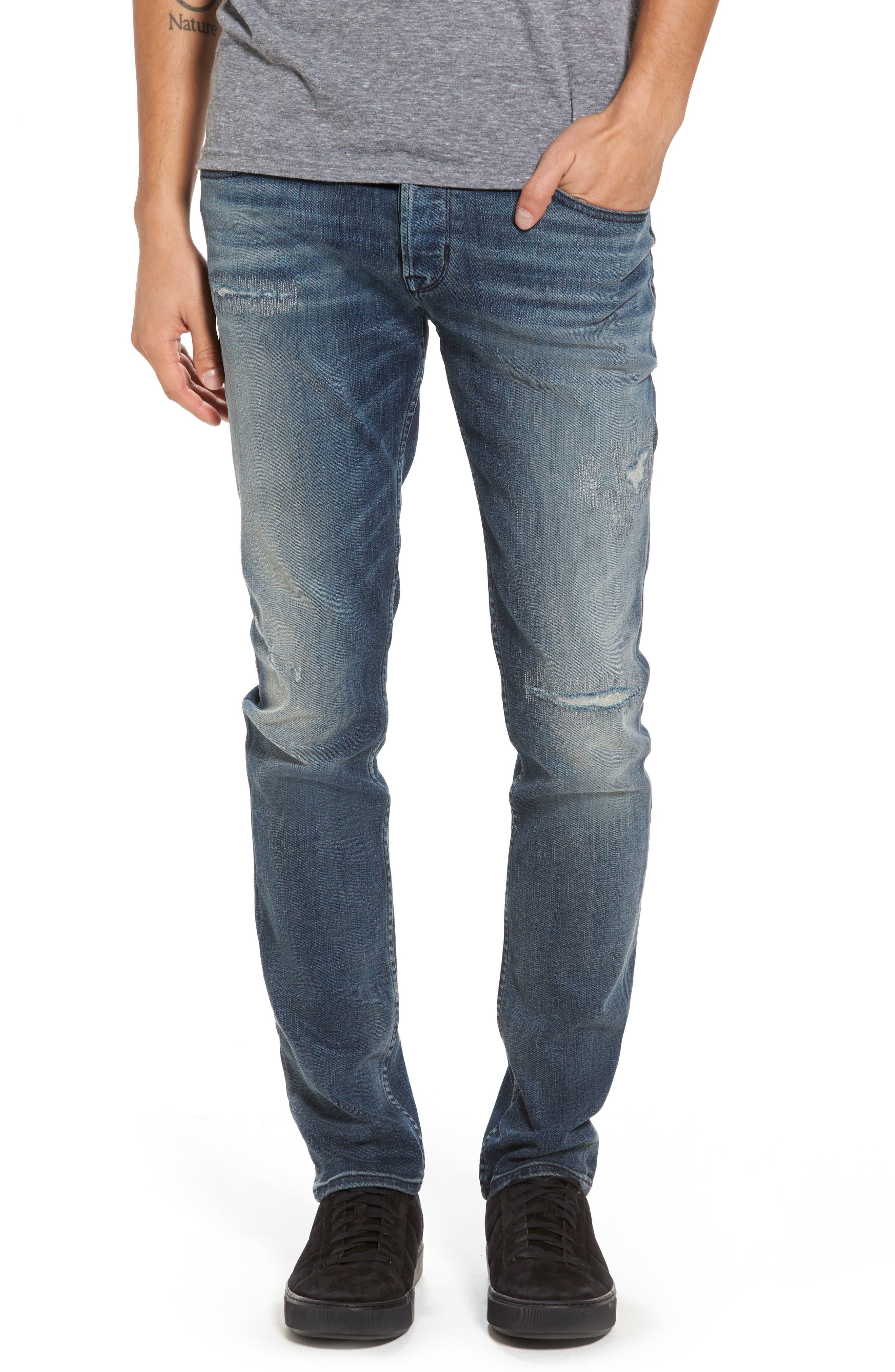 Hudson Jeans Axl Skinny Fit Jeans (Battery)
