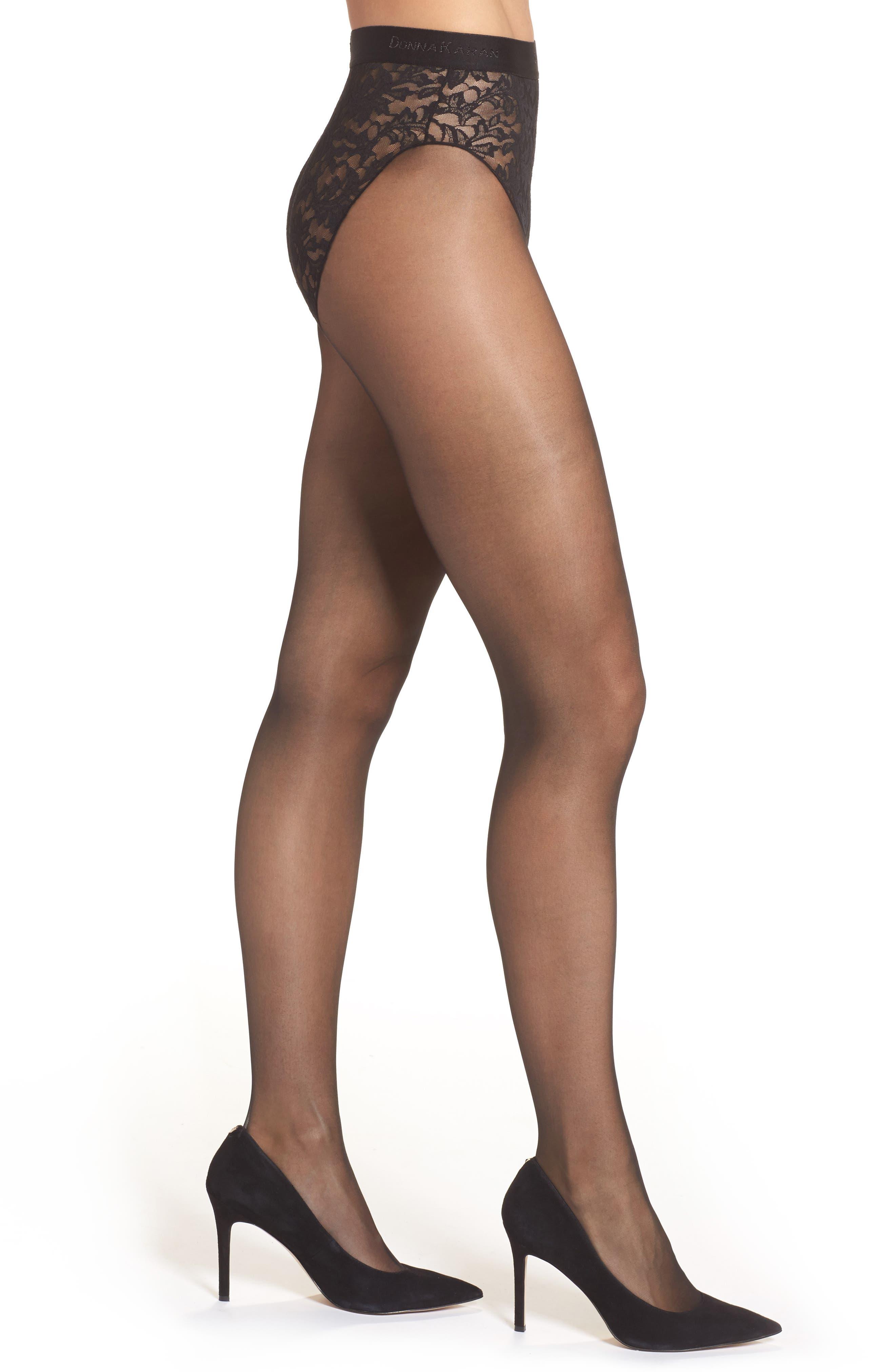 Donna Karan Signature Lace Panty Control Top Pantyhose