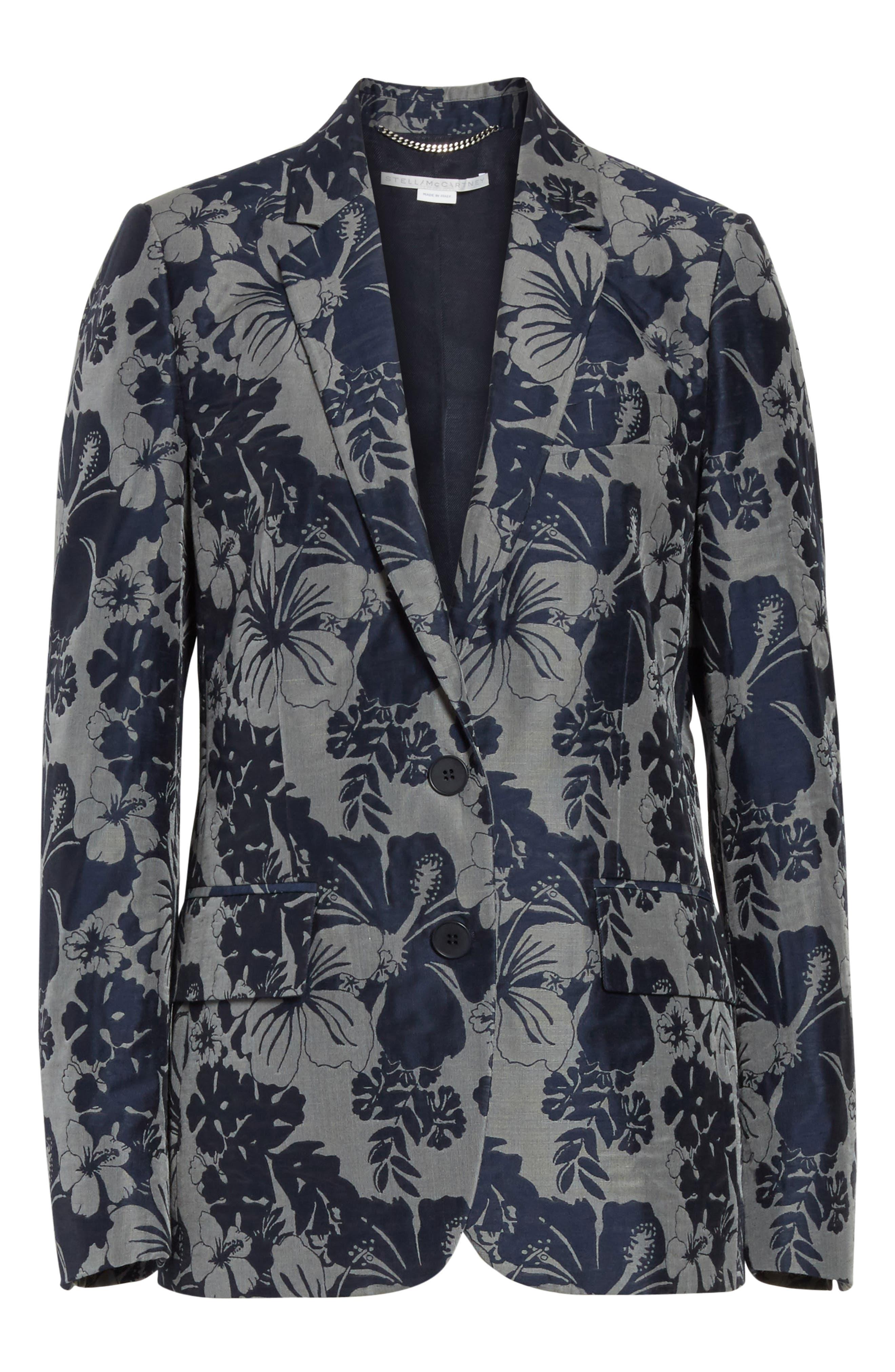 Alternate Image 6  - Stella McCartney Floral Jacquard Blazer