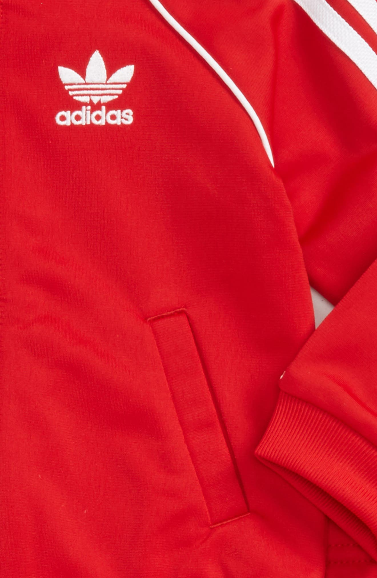 Originals Track Jacket & Athletic Pants Set,                             Alternate thumbnail 2, color,                             Scarlet