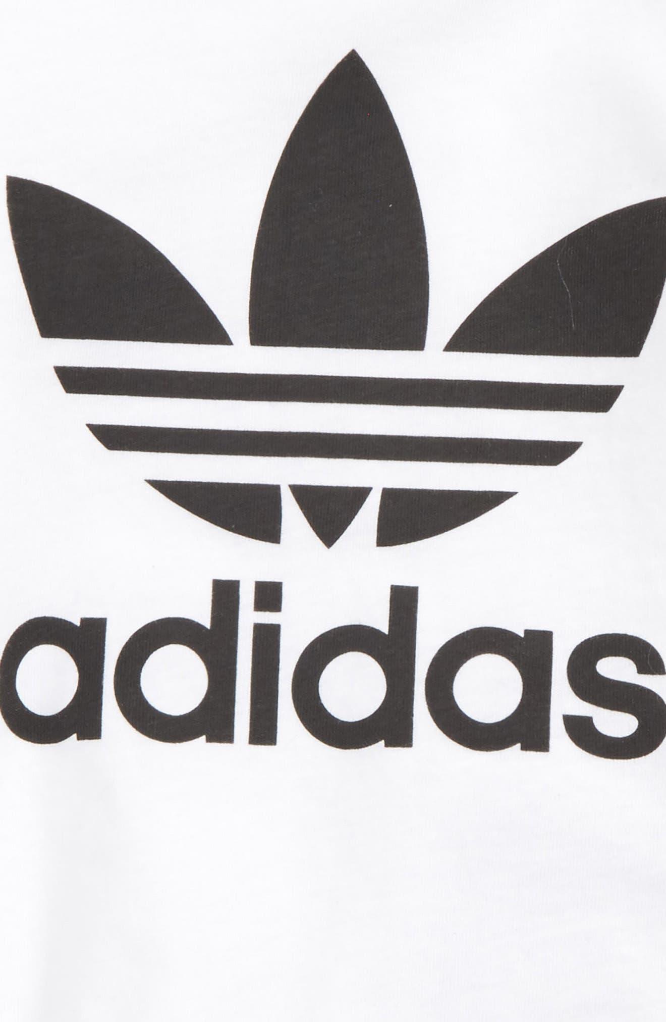 Alternate Image 2  - adidas Originals Graphic T-Shirt & Shorts Set (Baby Boys)
