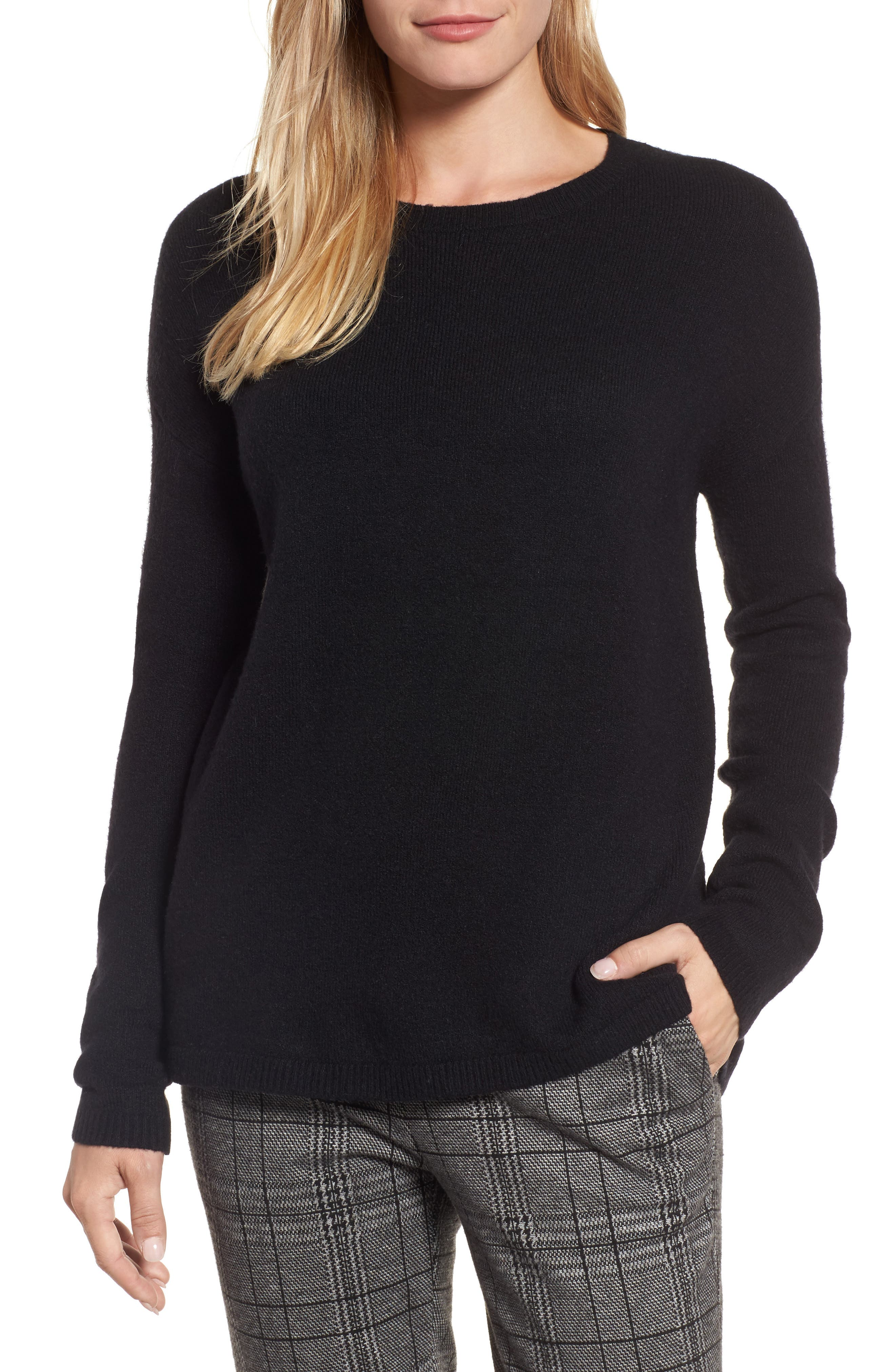 Alternate Image 1 Selected - Halogen® Bow Back Sweater (Regular & Petite)
