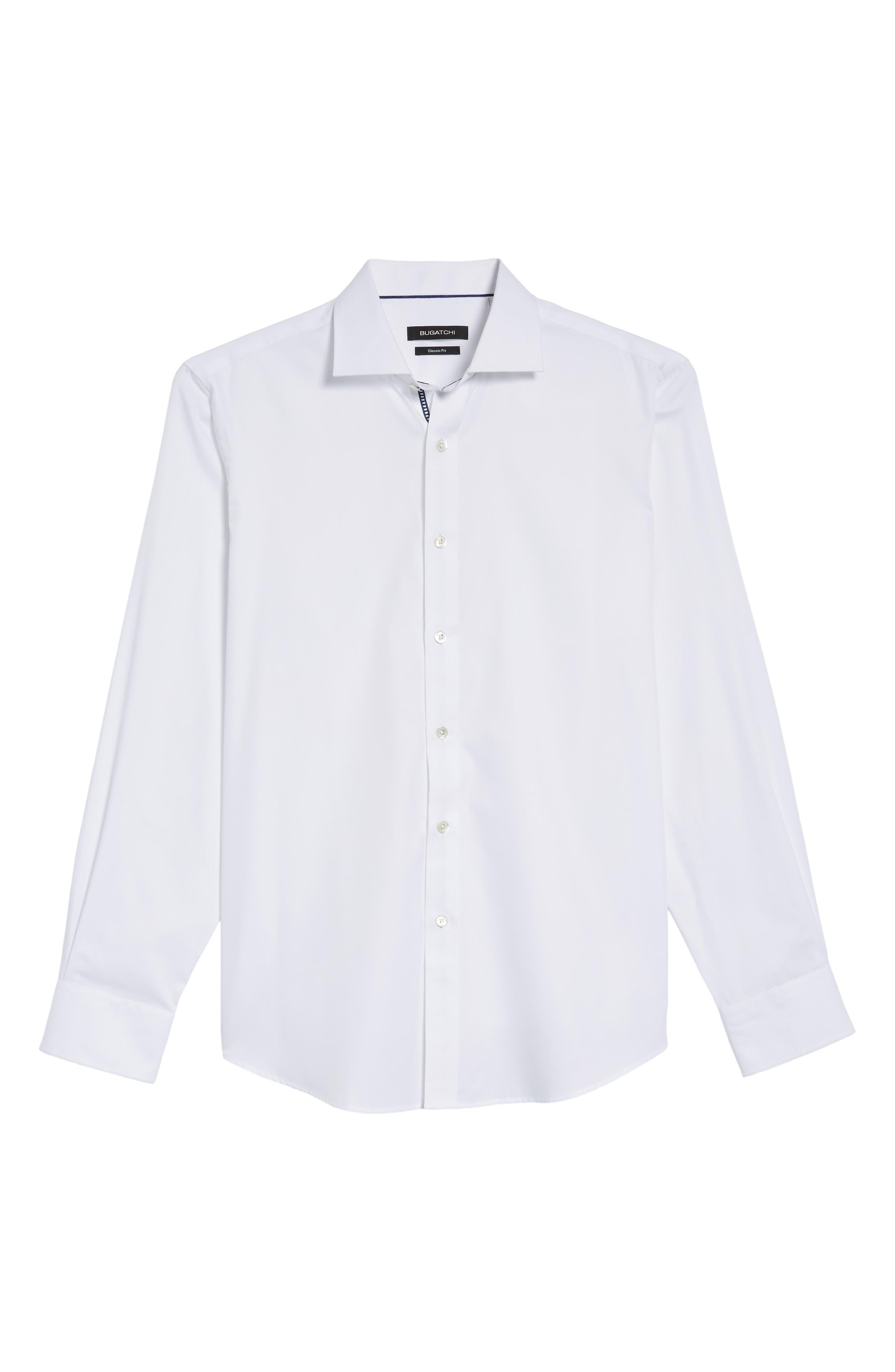 Classic Fit Sport Shirt,                             Alternate thumbnail 6, color,                             White
