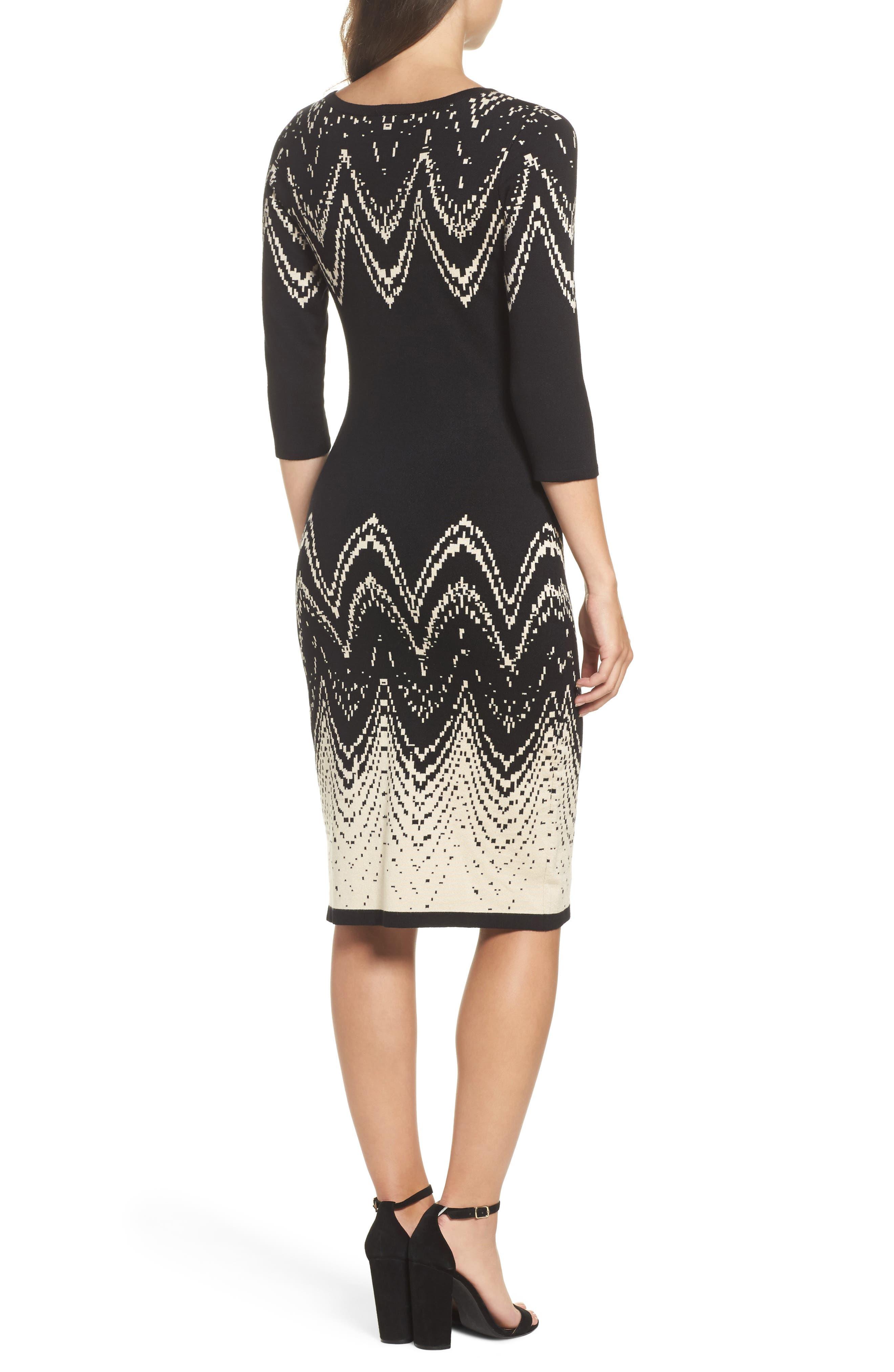 Alternate Image 2  - Gabby Skye Print Sweater Dress
