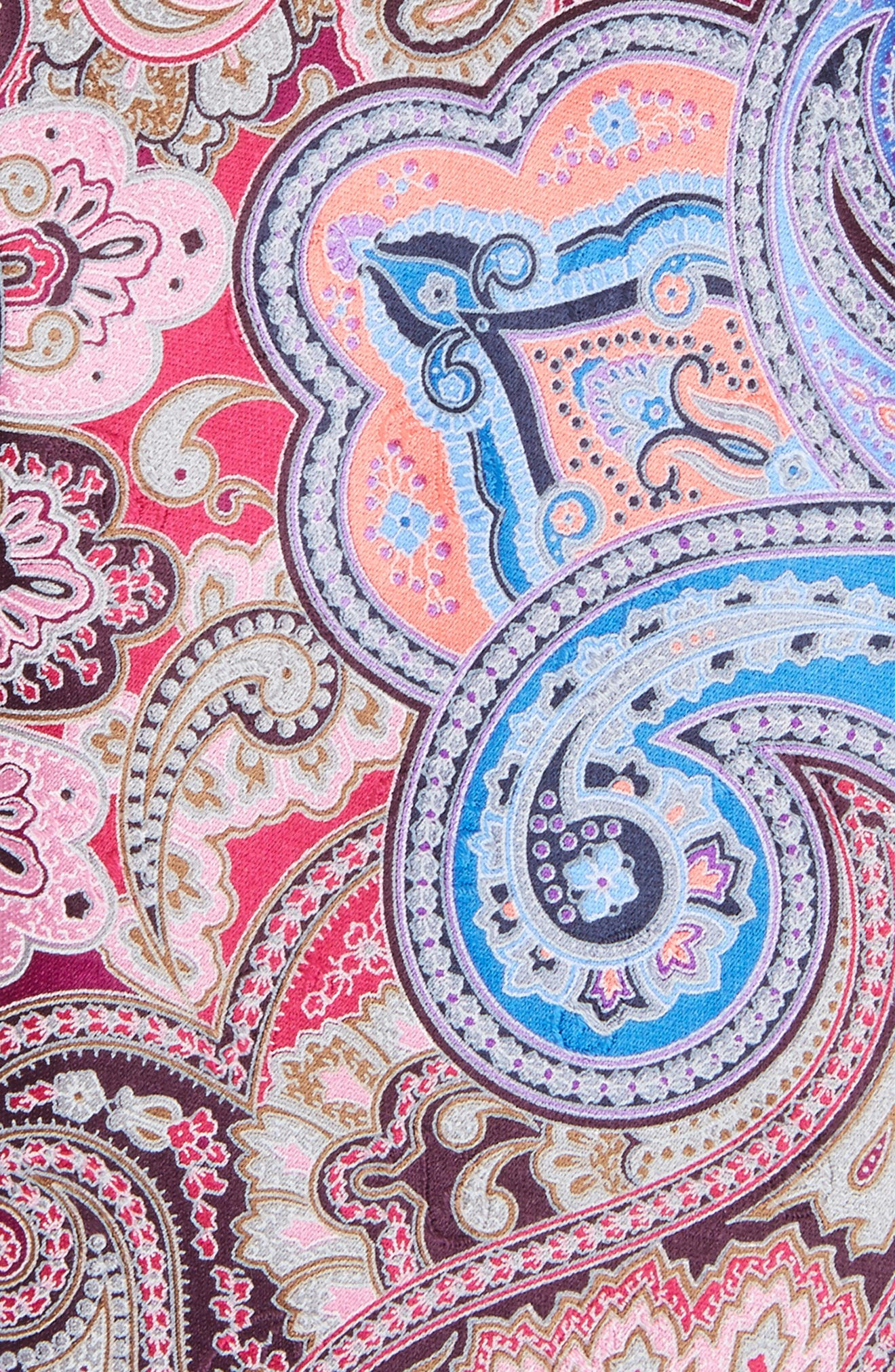 Quindici Paisley Silk Tie,                             Alternate thumbnail 2, color,                             Pink