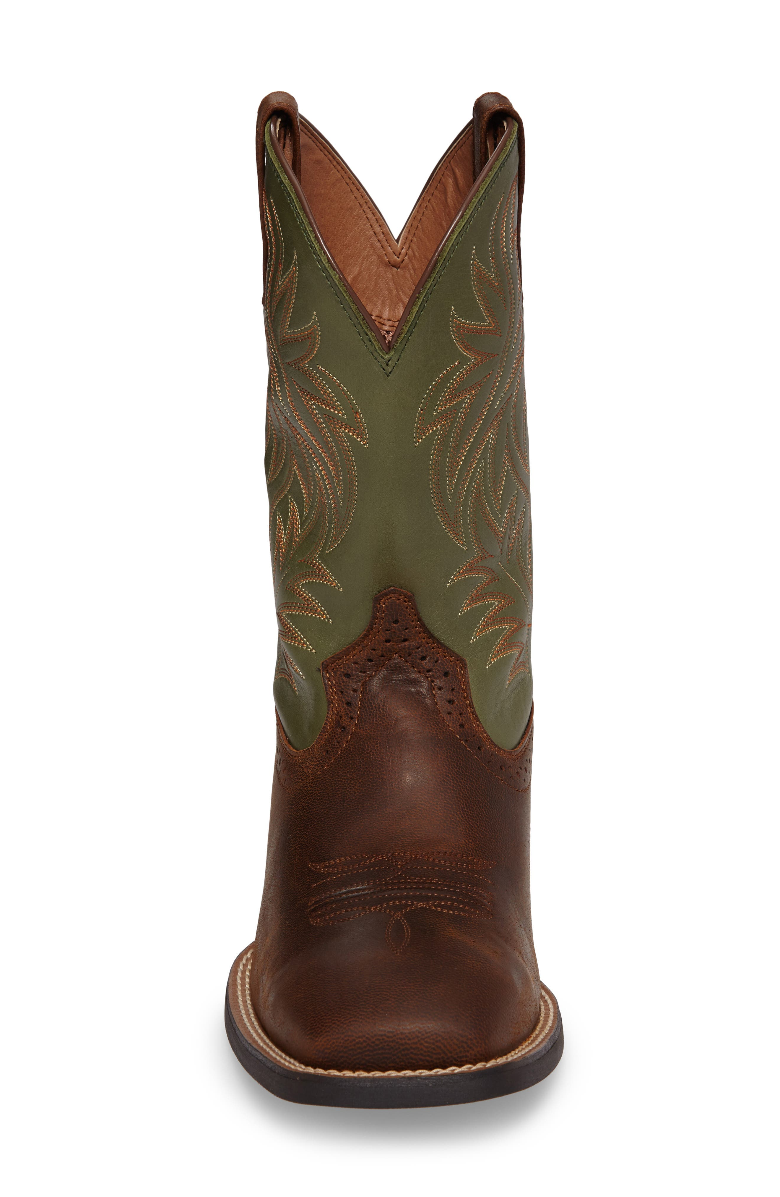 'Sport Western' Cowboy Boot,                             Alternate thumbnail 3, color,                             Tan/ Pesto