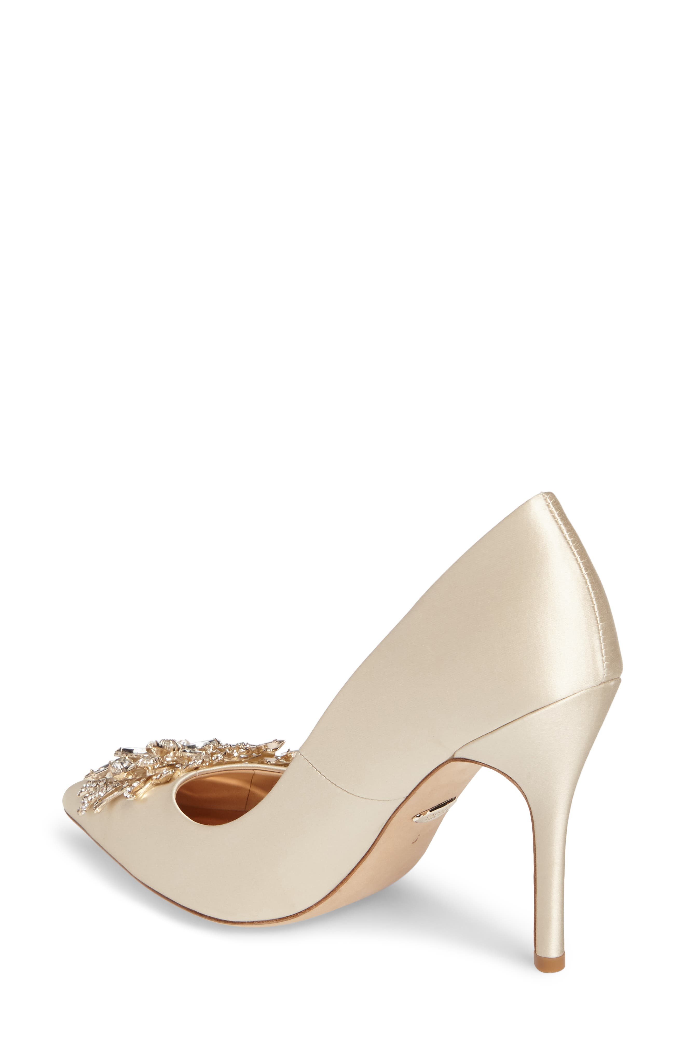 Marcela Pointy Toe Pump,                             Alternate thumbnail 2, color,                             Ivory Satin