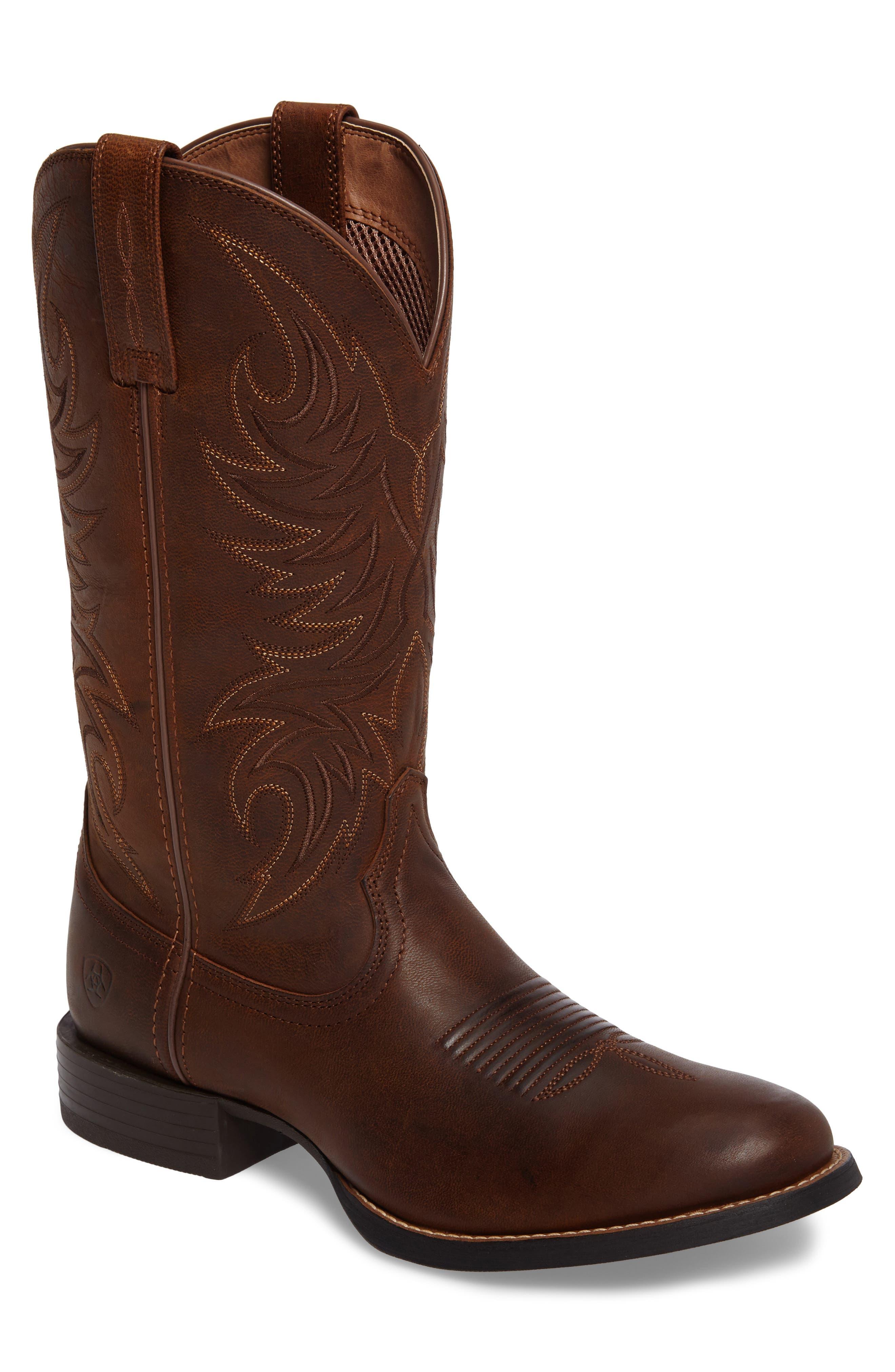 Sport Horsemen Cowboy Boot,                         Main,                         color, Tan/ Pesto