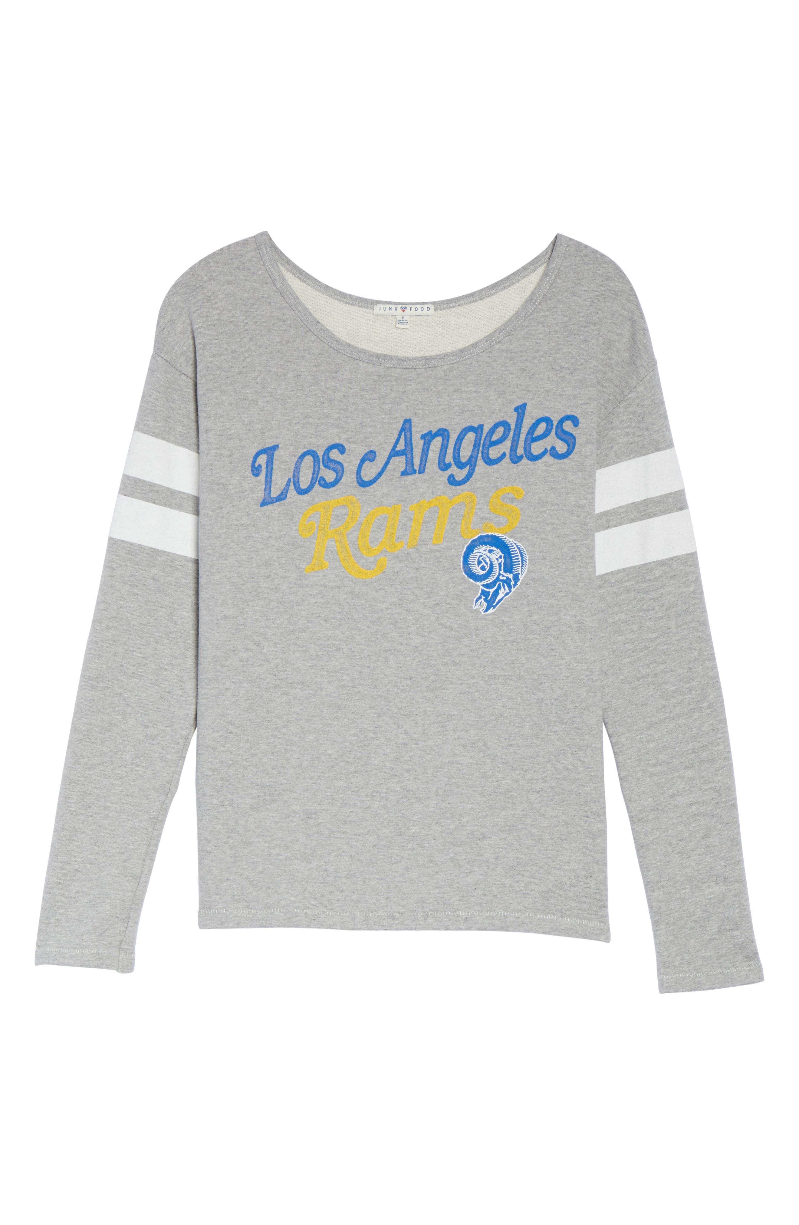 Alternate Image 4  - Junk Food NFL Los Angeles Rams Champion Sweatshirt
