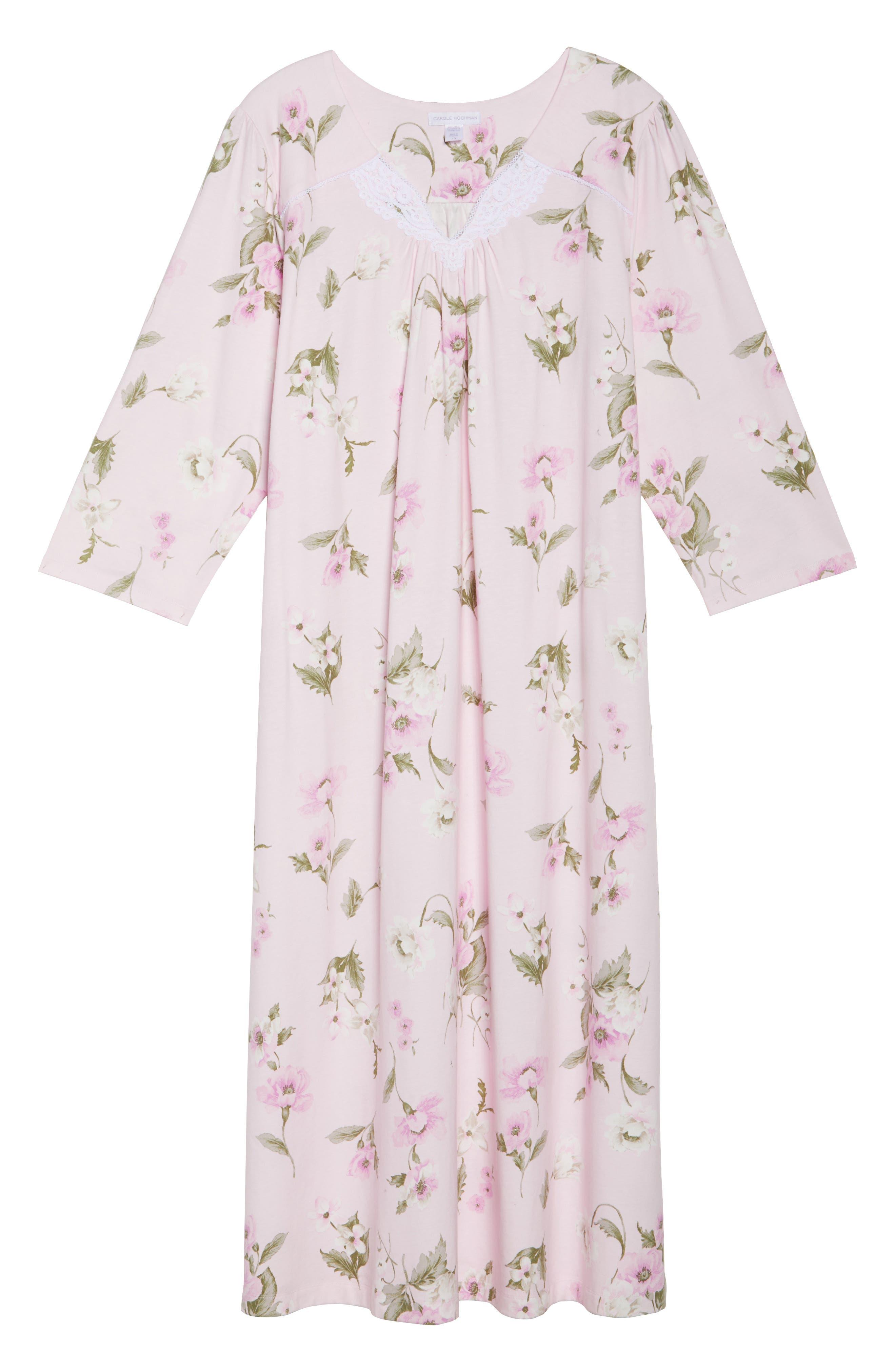 Knit Nightgown,                             Alternate thumbnail 4, color,                             English Petal