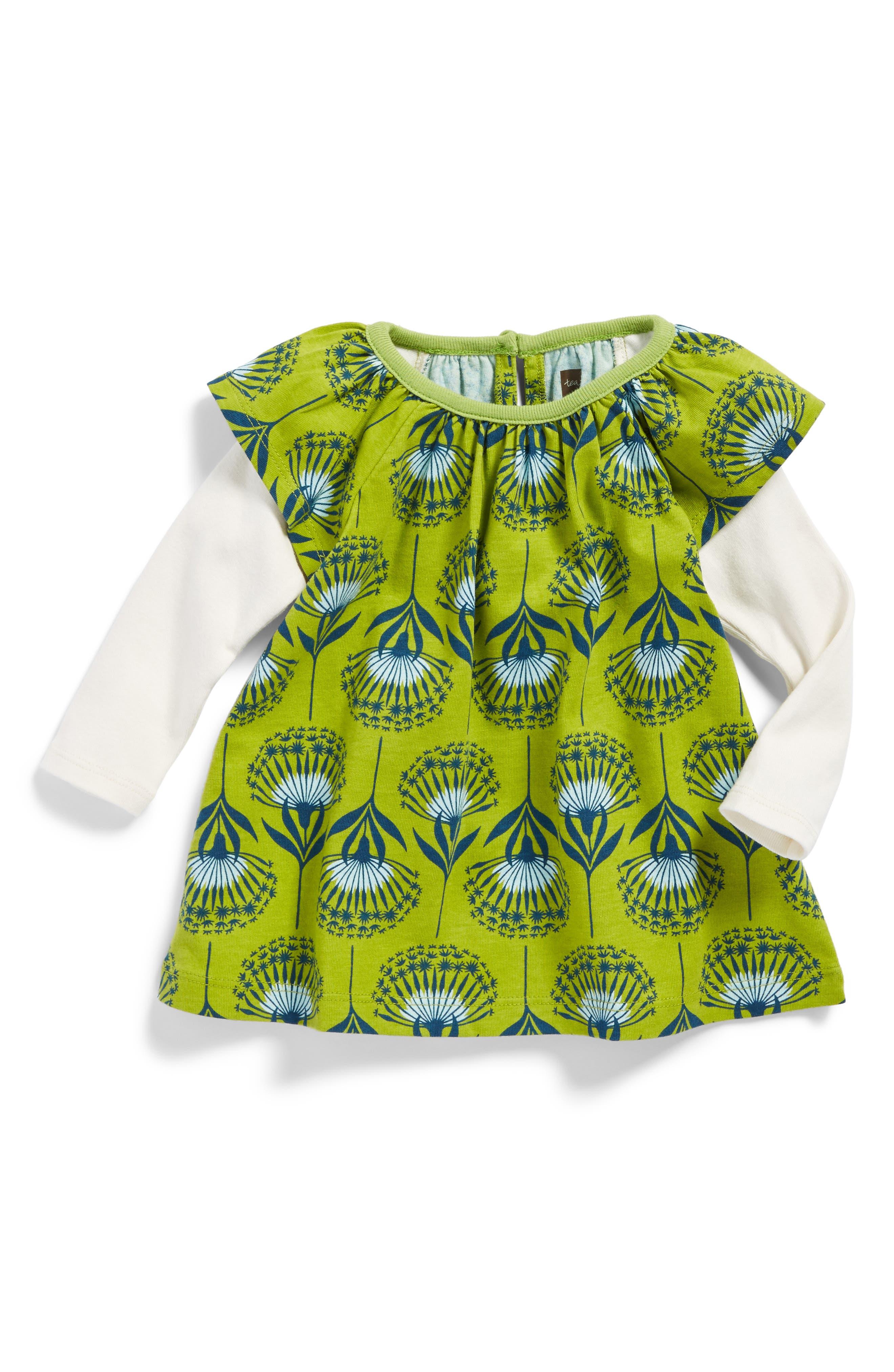 Main Image - Tea Collection Dandelion Flutter Dress (Baby Girls)