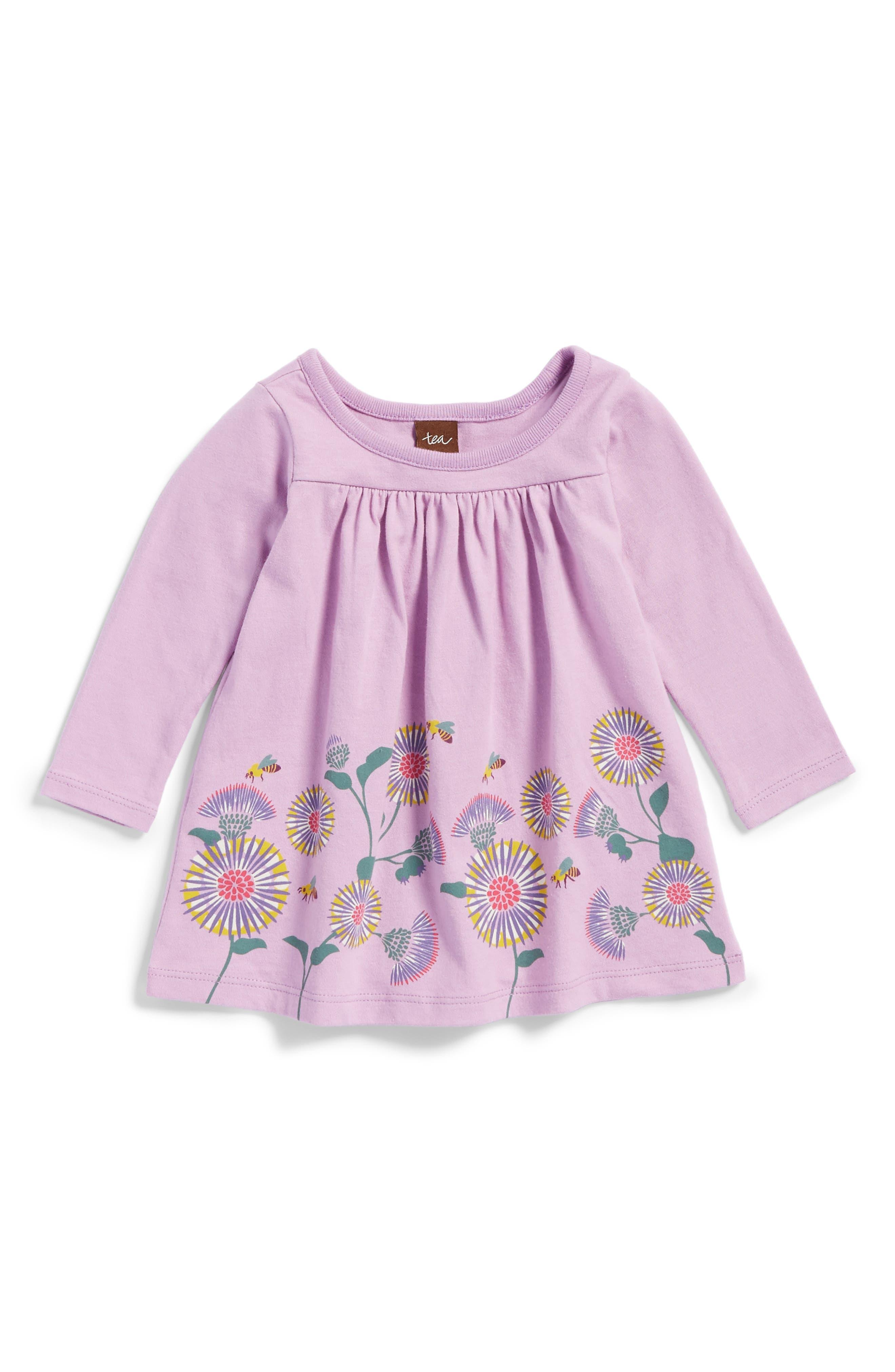 Thistle Print Dress,                         Main,                         color, Lilac