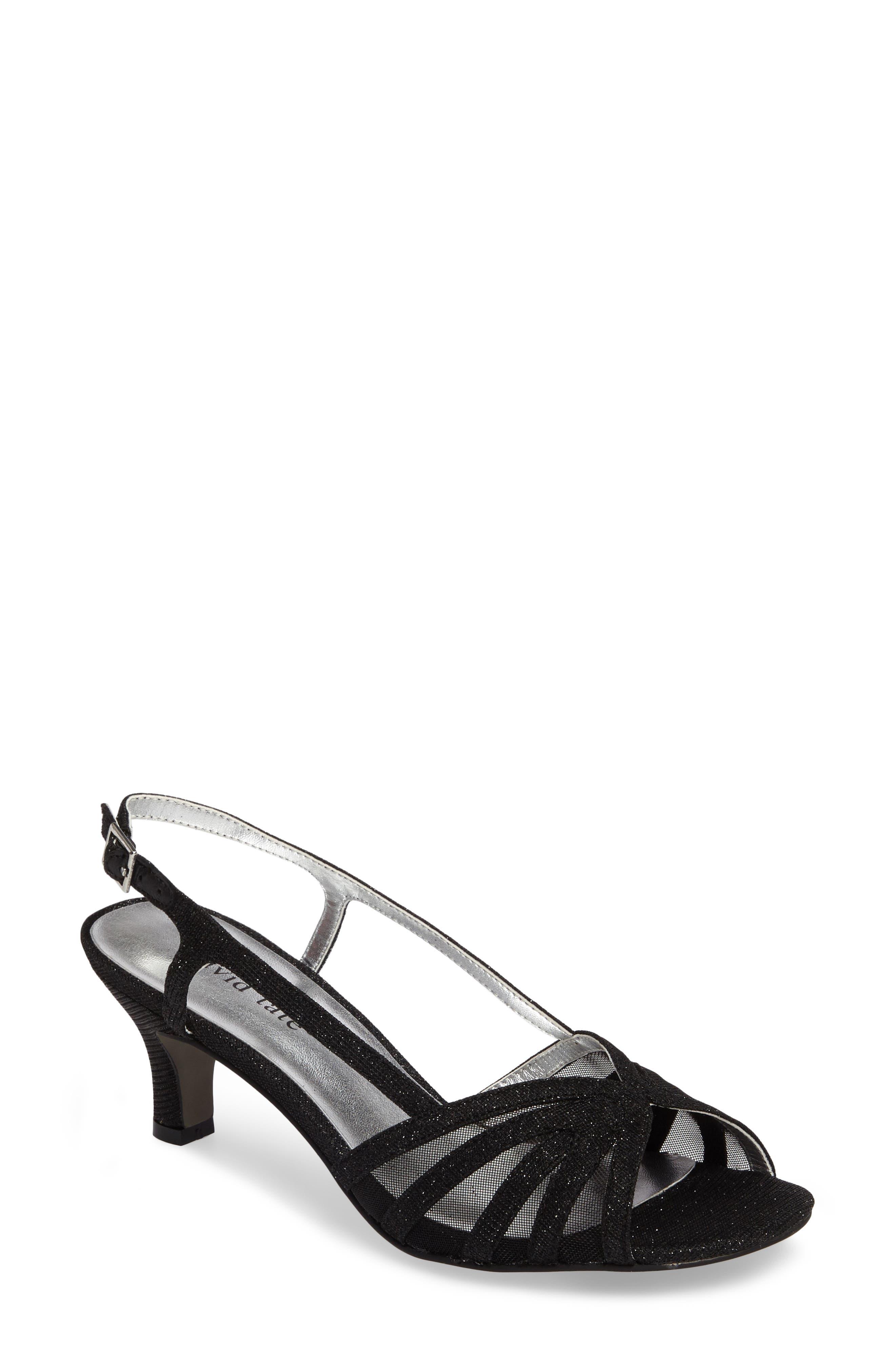 Ritz Slingback Sandal,                             Main thumbnail 1, color,                             Black