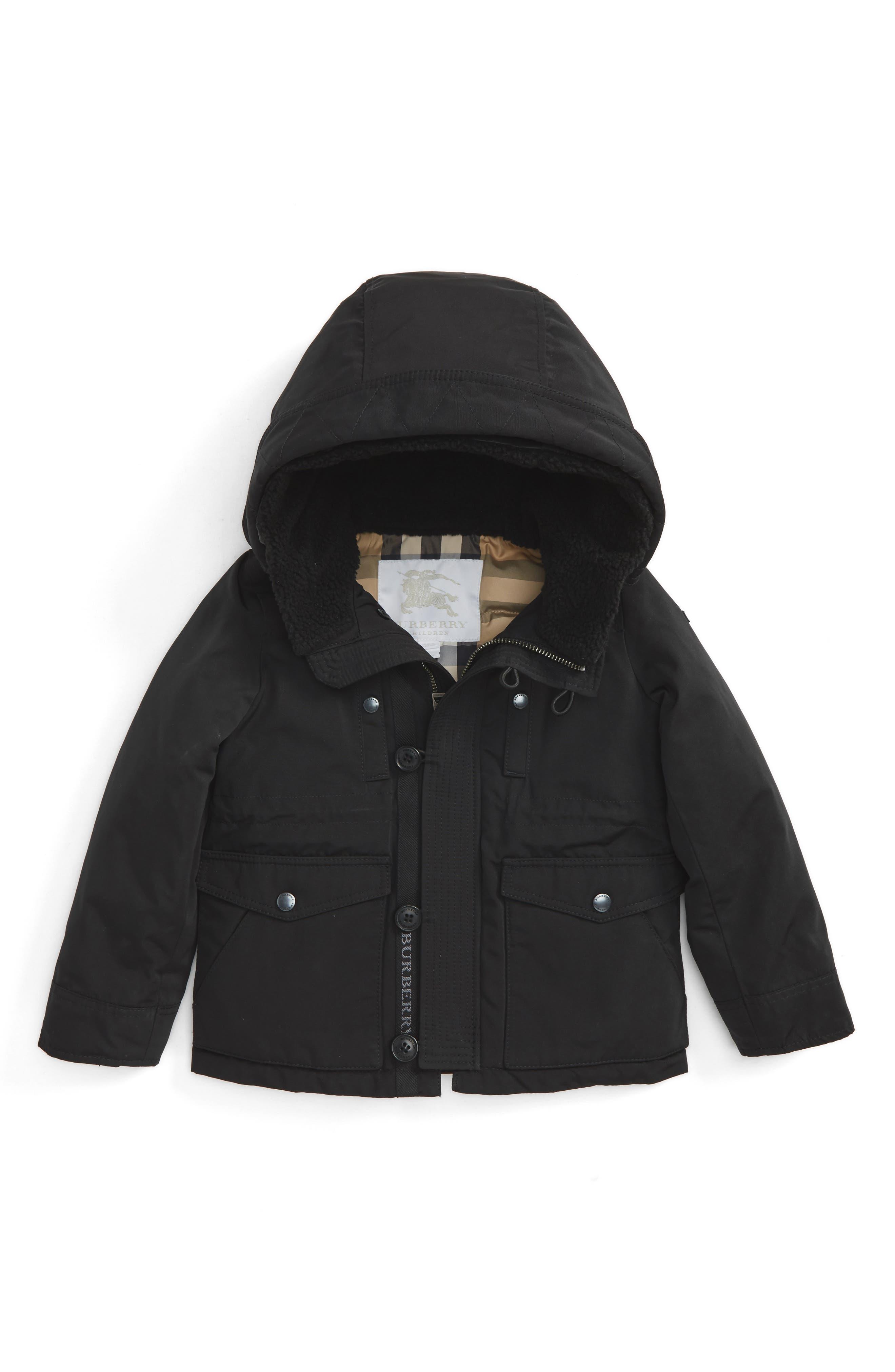 Mini Elliott Down Jacket,                         Main,                         color, Black