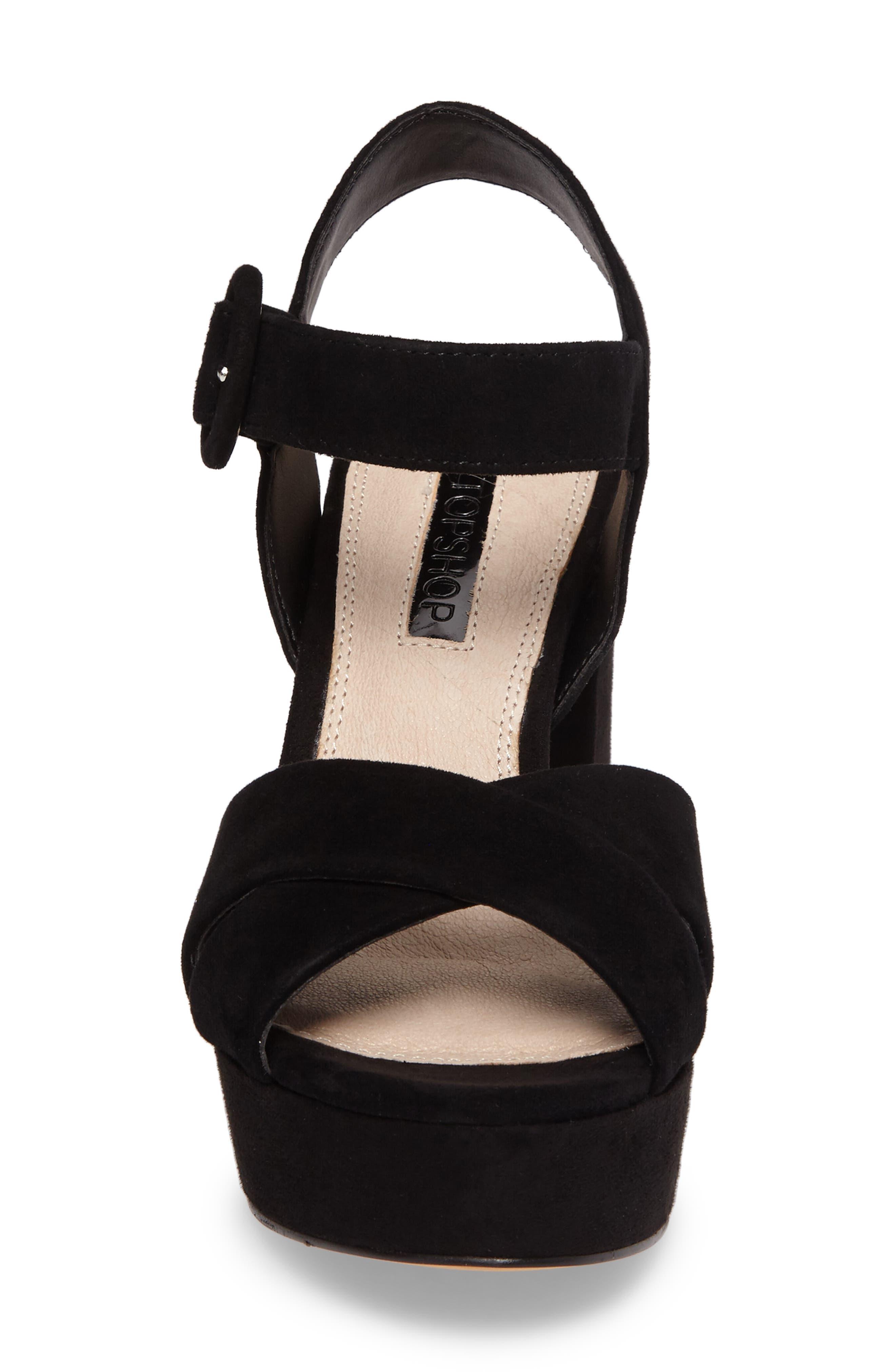 Alternate Image 4  - Topshop Cross Strap Platform Sandal (Women)
