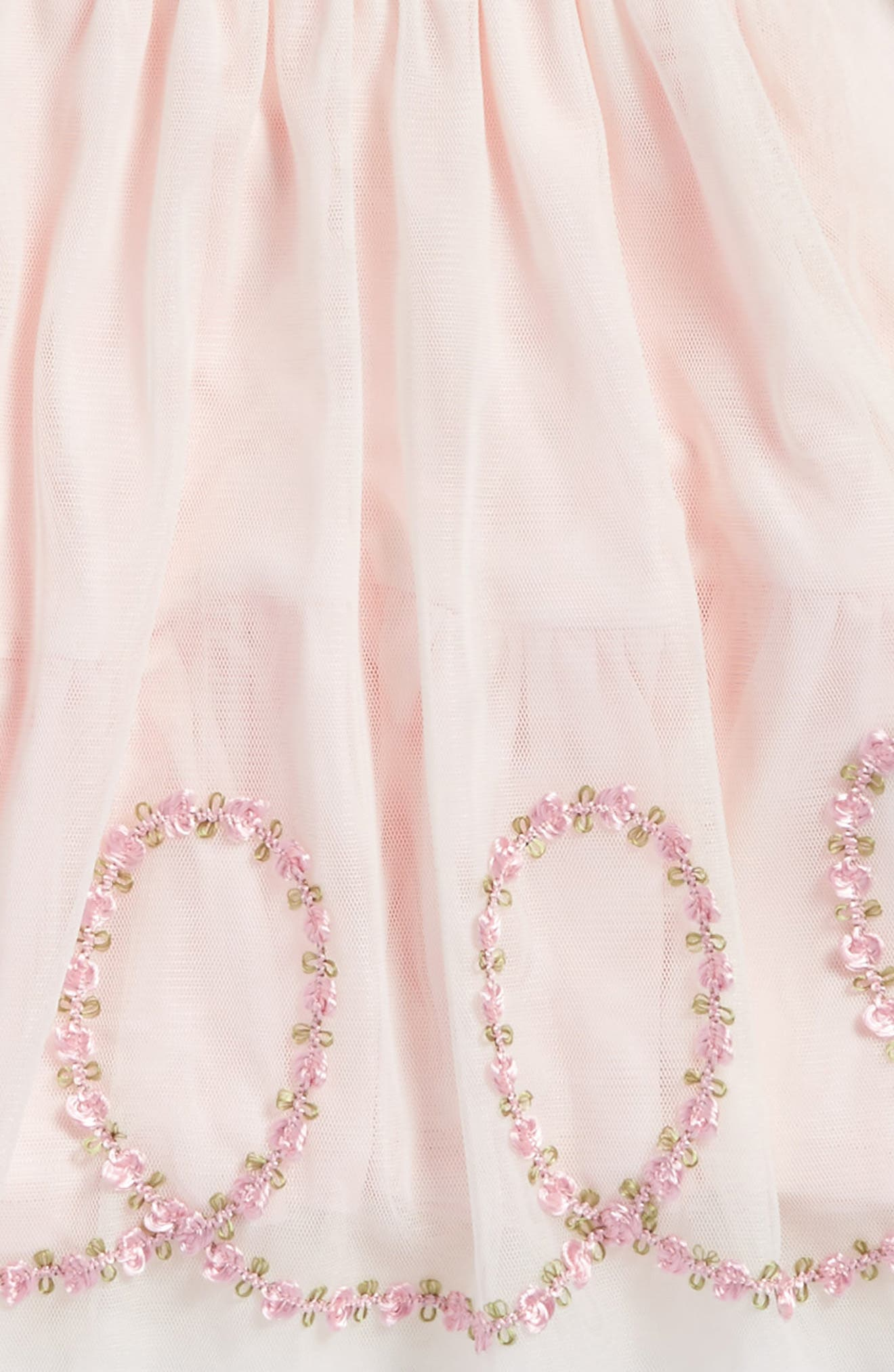 Alternate Image 3  - Kate Mack Embroidered Mesh Dress (Baby Girls)