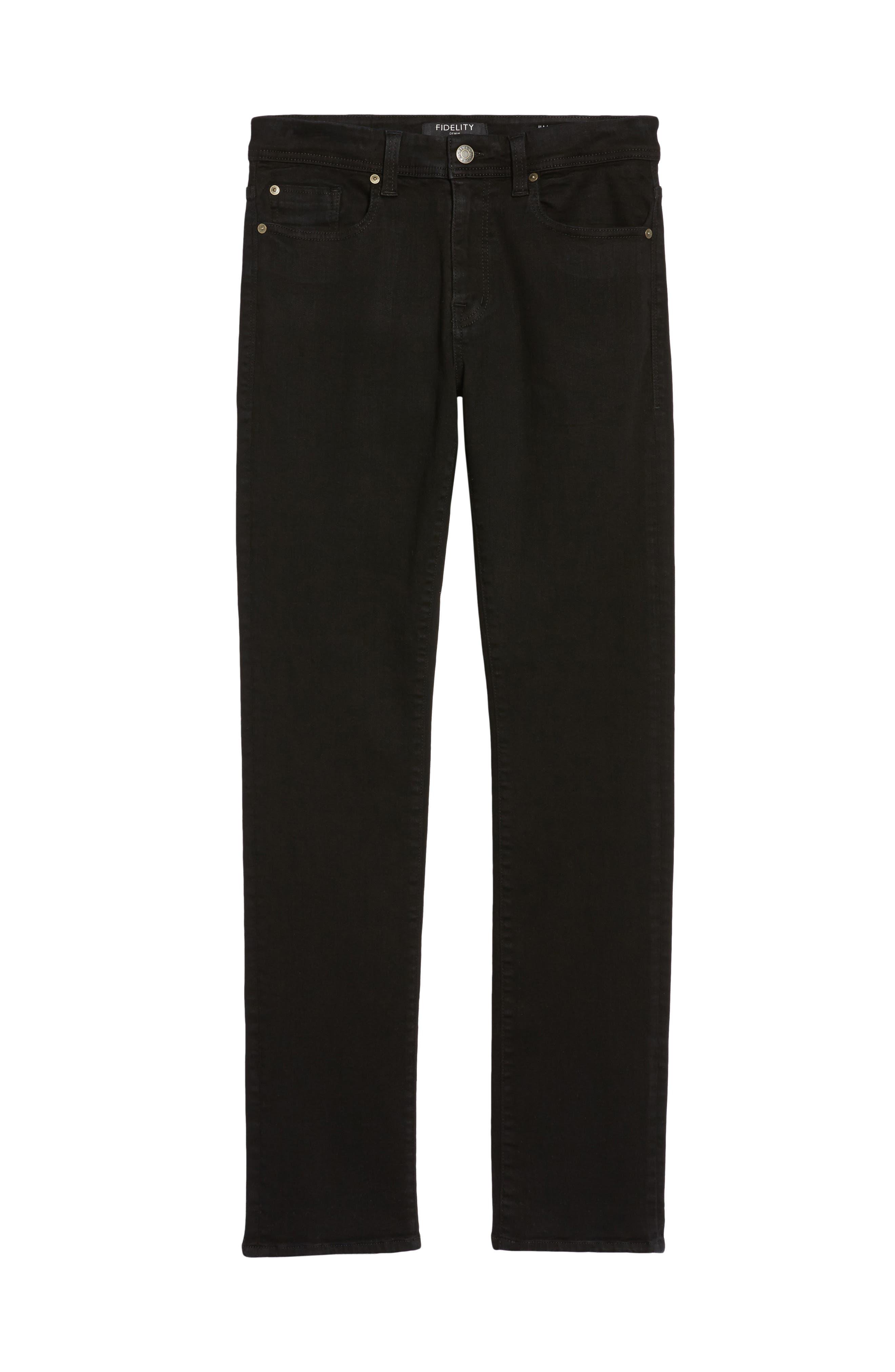 Jimmy Slim Straight leg Jeans,                         Main,                         color, Everblack