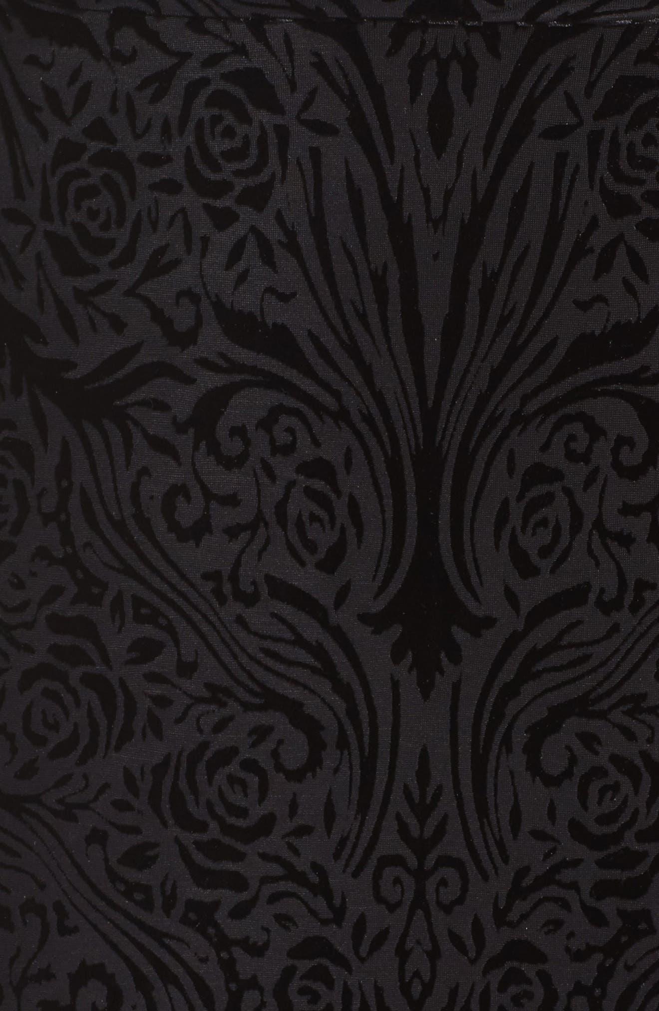 Plunge Burnout Gown,                             Alternate thumbnail 5, color,                             Black