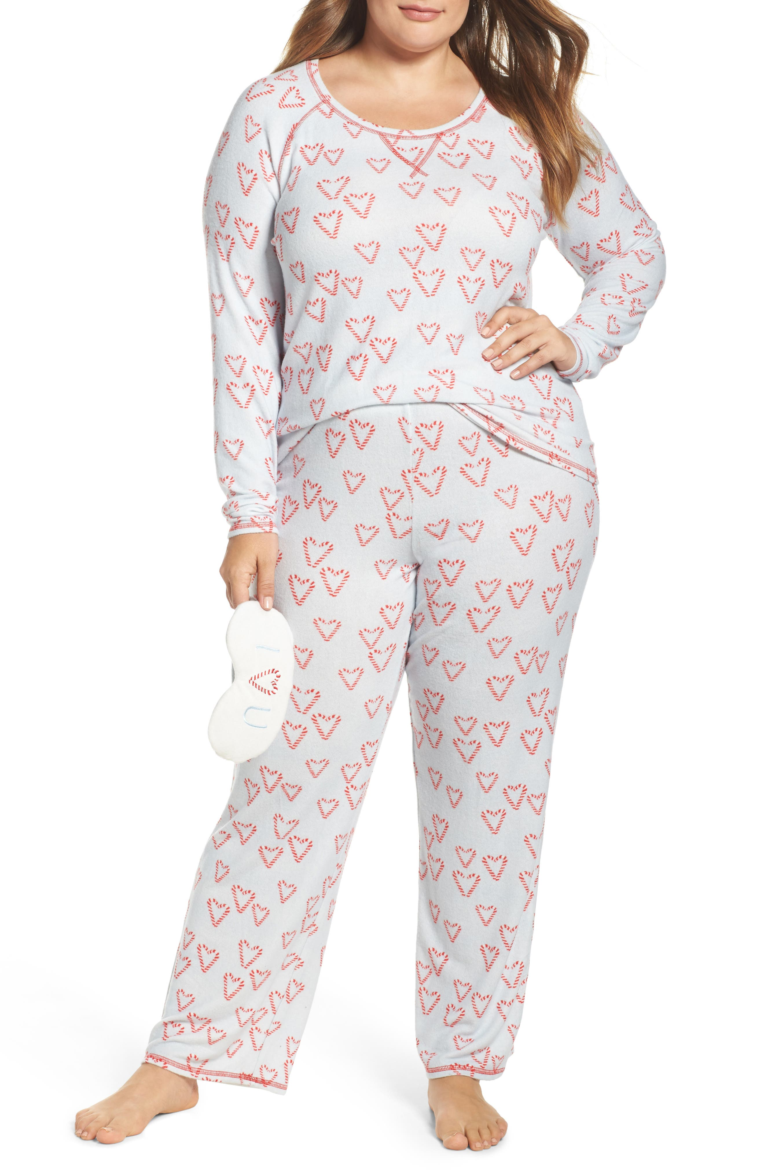 Make + Model Knit Pajamas & Sleep Mask (Plus Size)