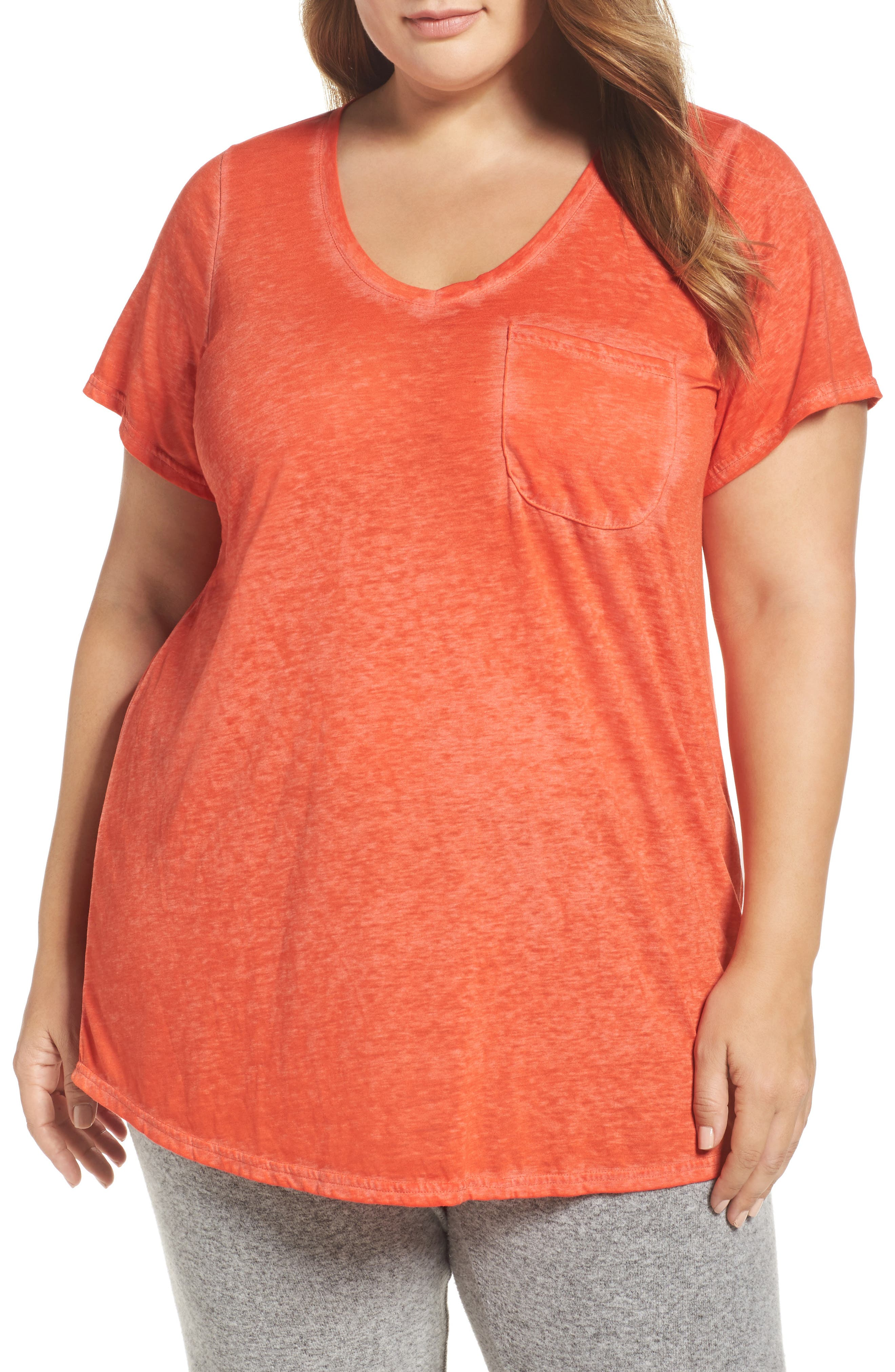 Alternate Image 1 Selected - Make + Model 'Gotta Have It' V-Neck Tee (Plus Size)