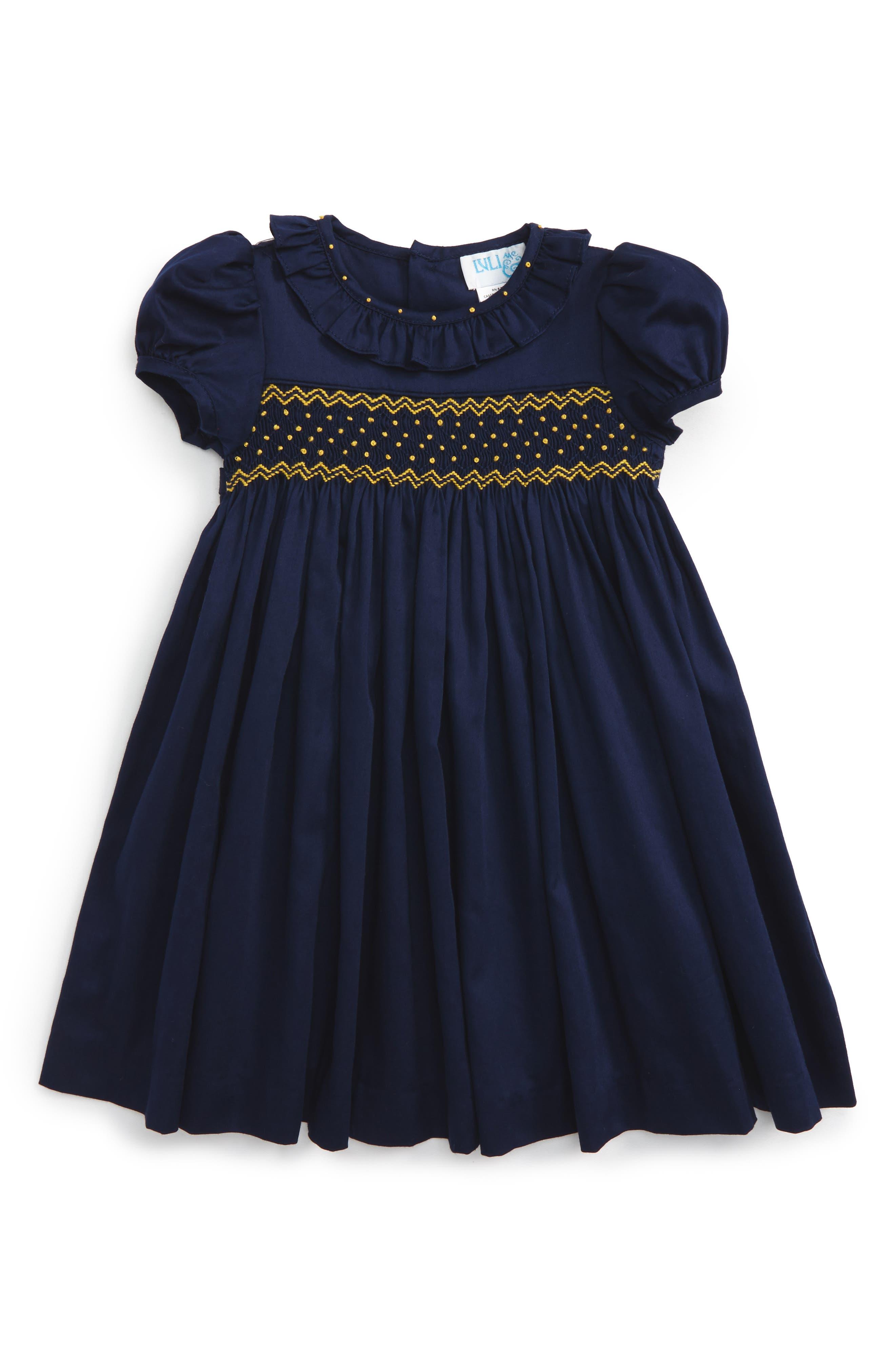 Luli & Me Smocked Dress (Baby Girls)