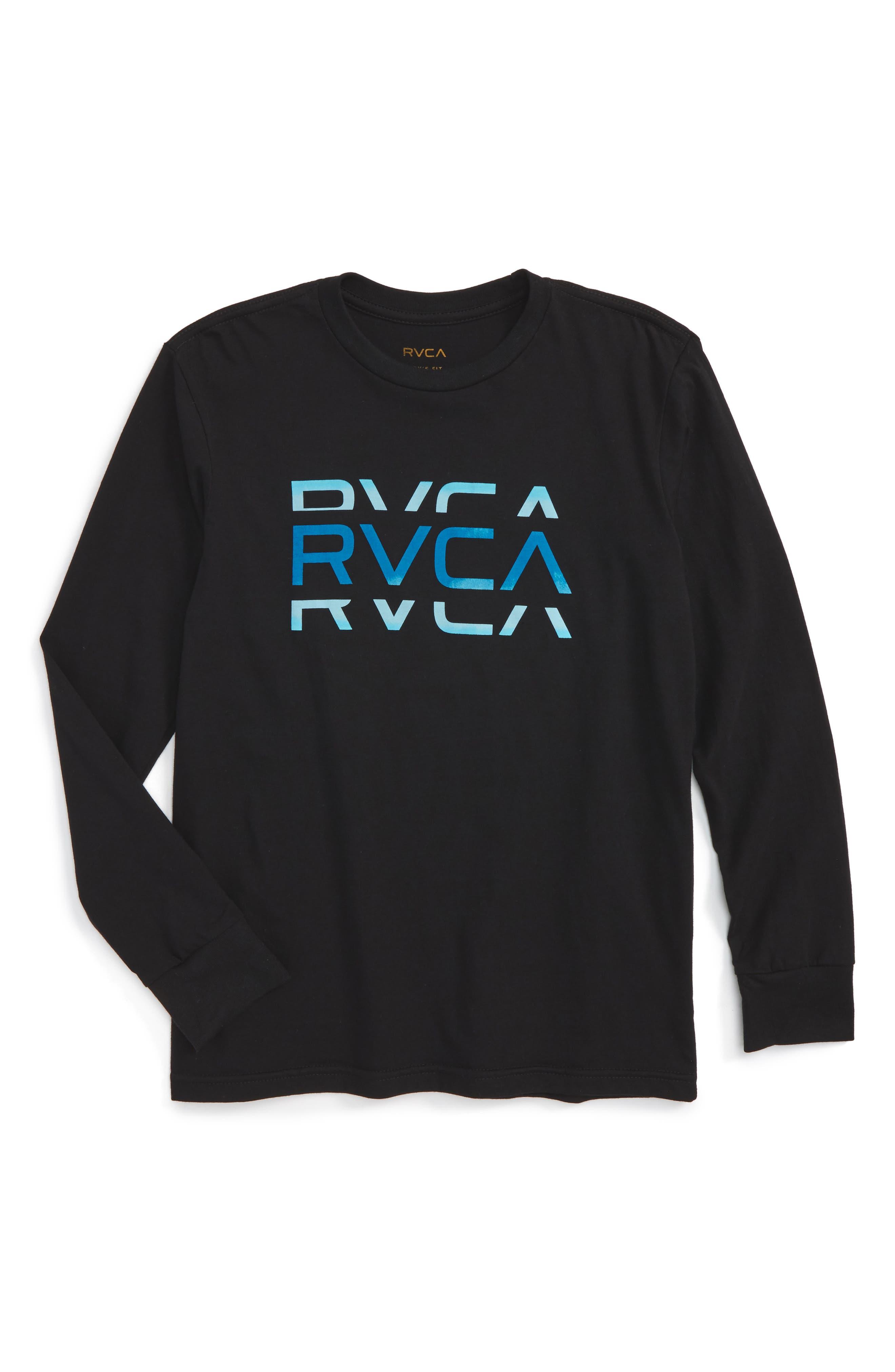 RVCA Cut Logo Graphic T-Shirt (Big Boys)