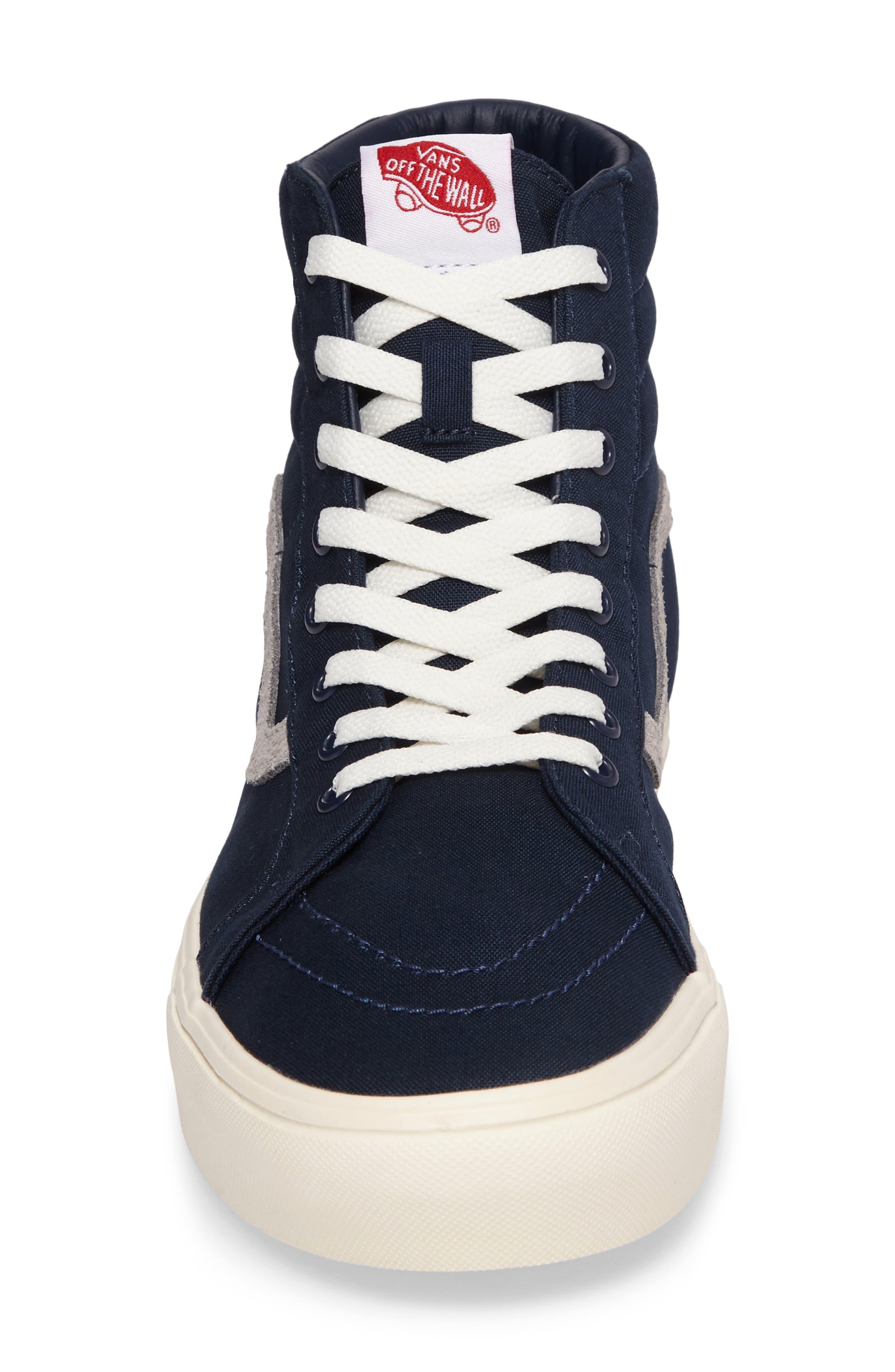 Sk80-Hi Reissue Lite Sneaker,                             Alternate thumbnail 4, color,                             Dress Blues/Marshmallow Canvas