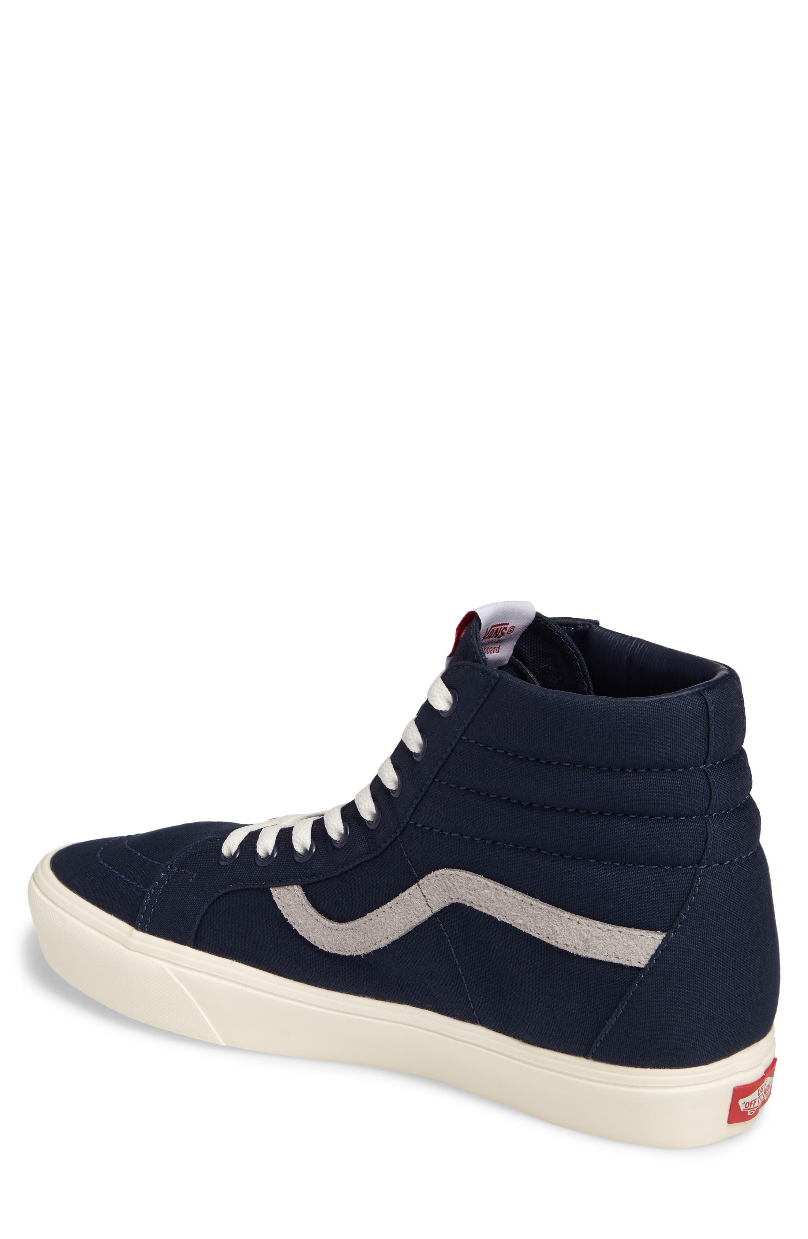 Sk80-Hi Reissue Lite Sneaker,                             Alternate thumbnail 2, color,                             Dress Blues/Marshmallow Canvas