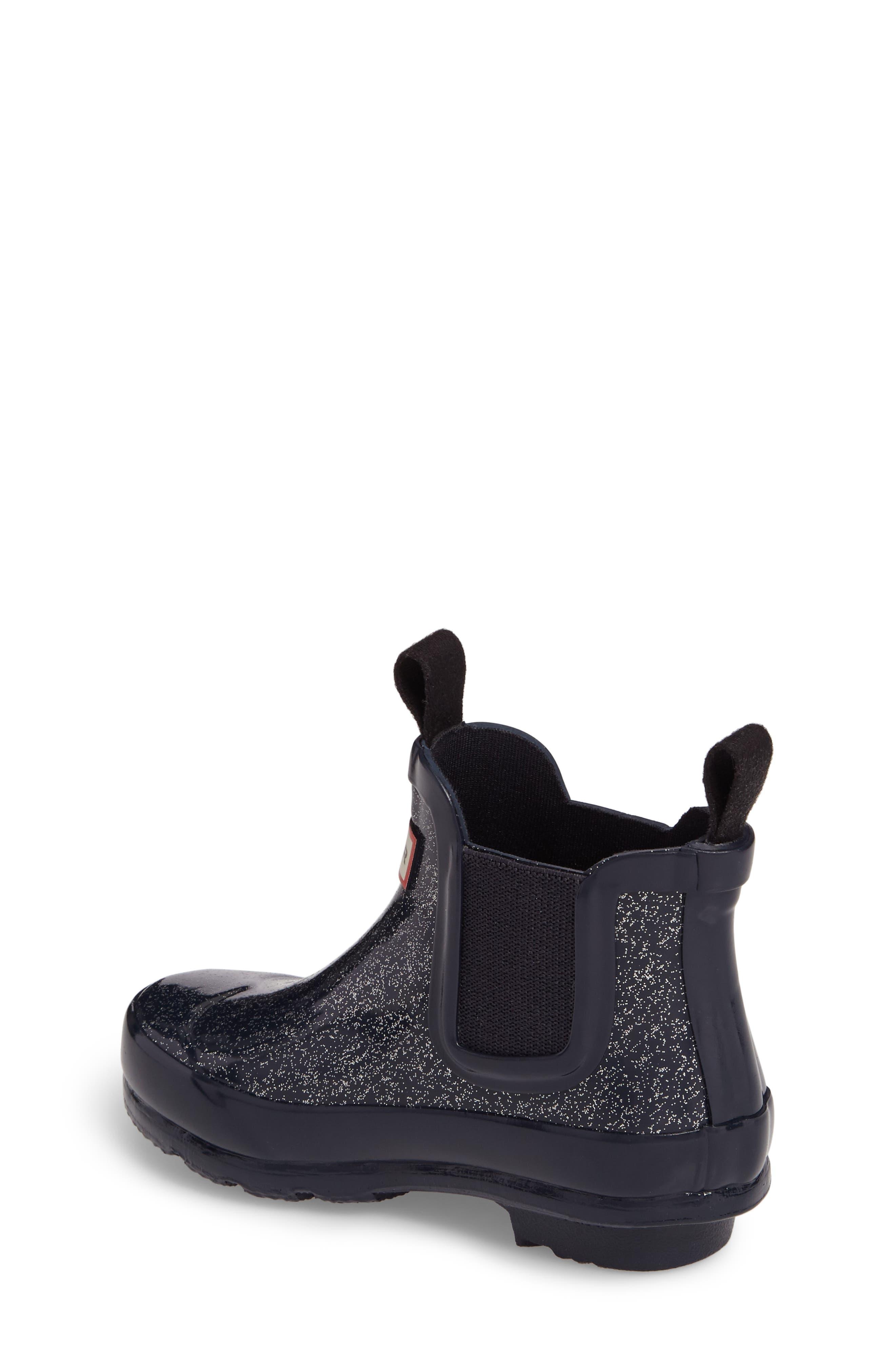 Alternate Image 2  - Hunter Originals Glittery Waterproof Chelsea Boot (Toddler)
