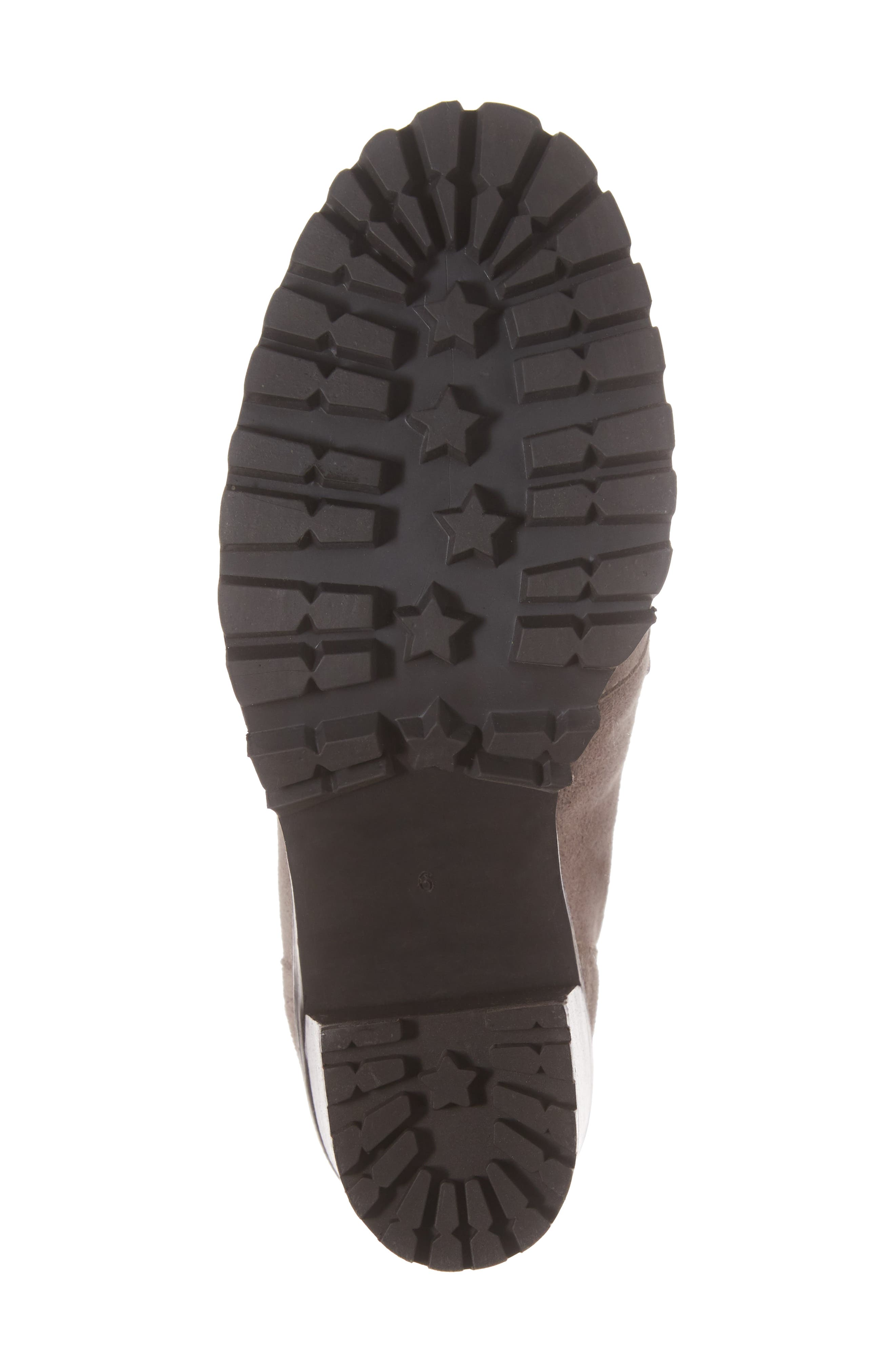 Theater Lace-Up Bootie,                             Alternate thumbnail 6, color,                             Taupe Suede
