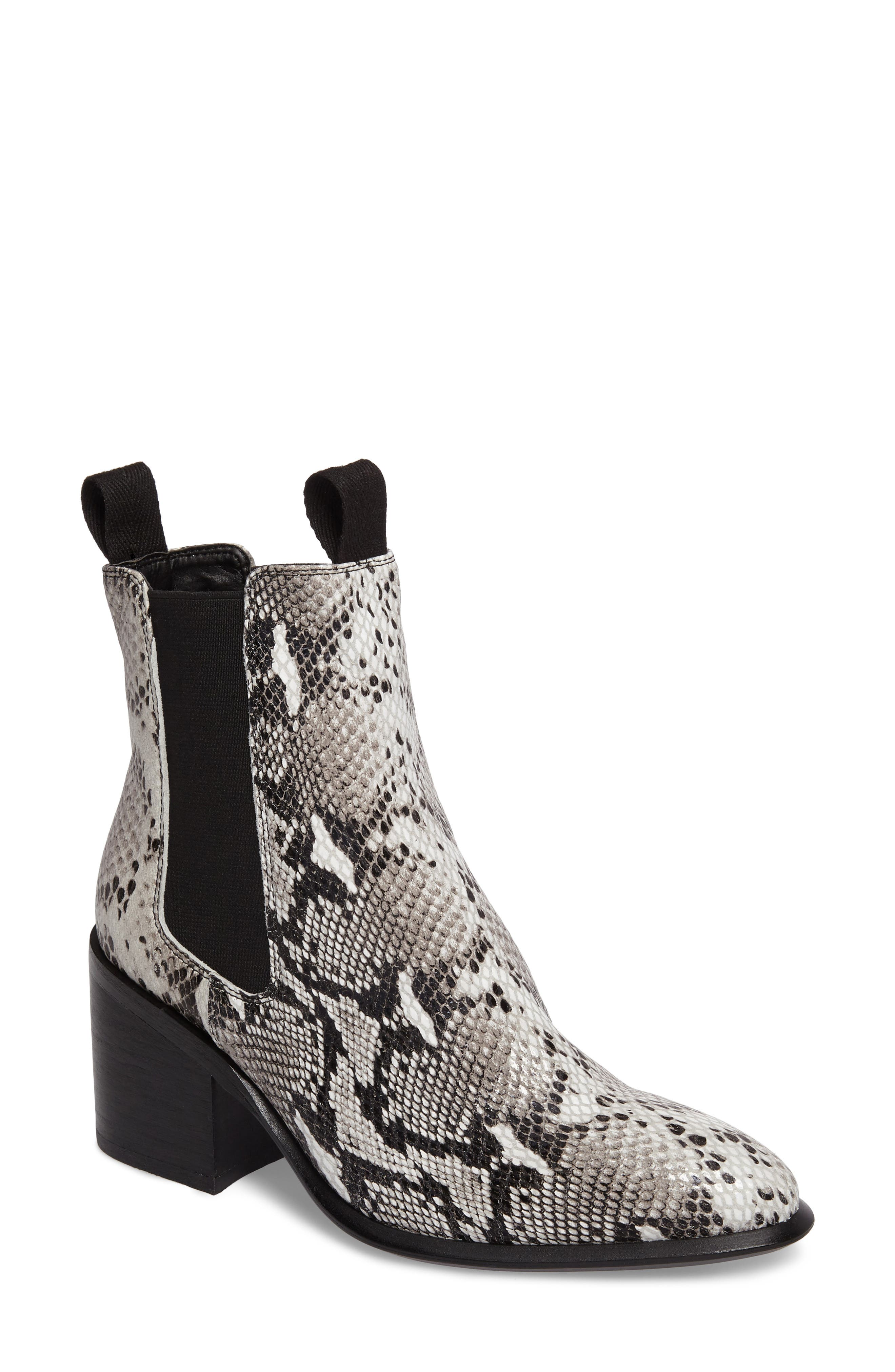 Hampton Bootie,                             Main thumbnail 1, color,                             Natural Snake Print Leather