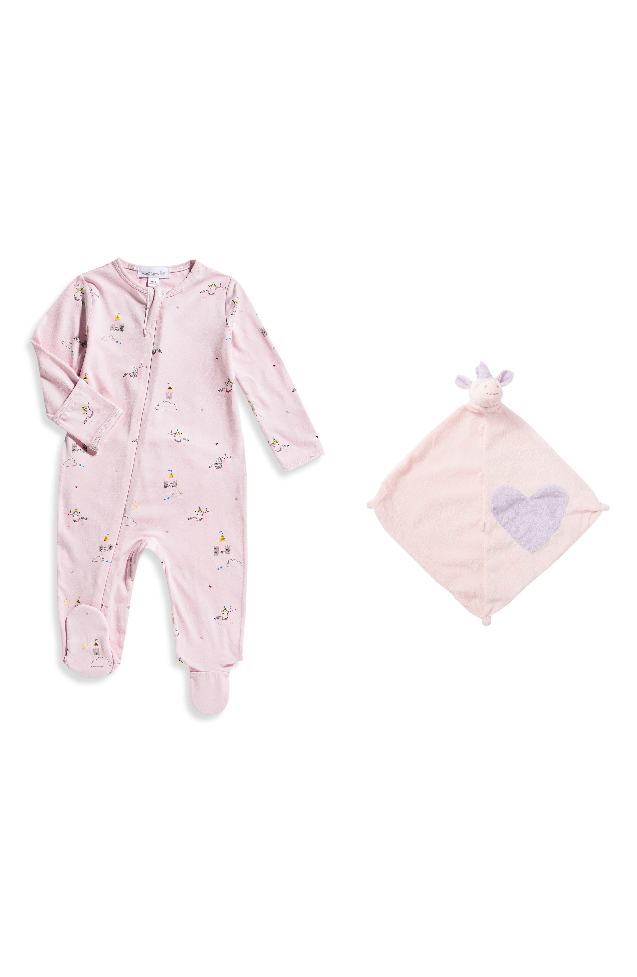 Angel Dear Footie & Blankie Set (Baby Girls)