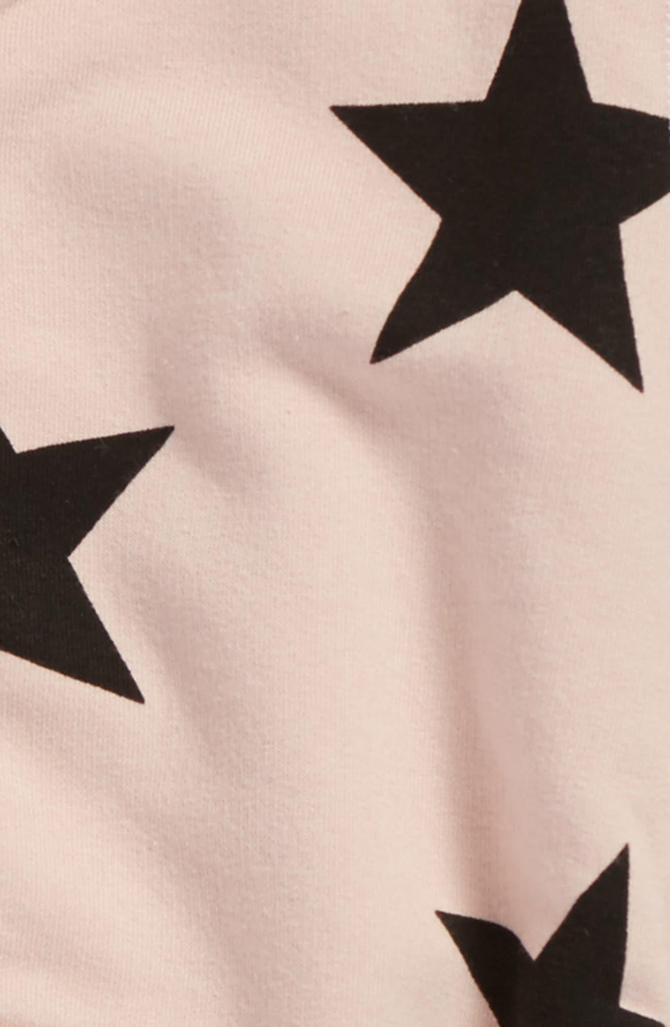 Alternate Image 2  - NUNUNU Star Zip Hoodie (Toddler Girls & Little Girls)