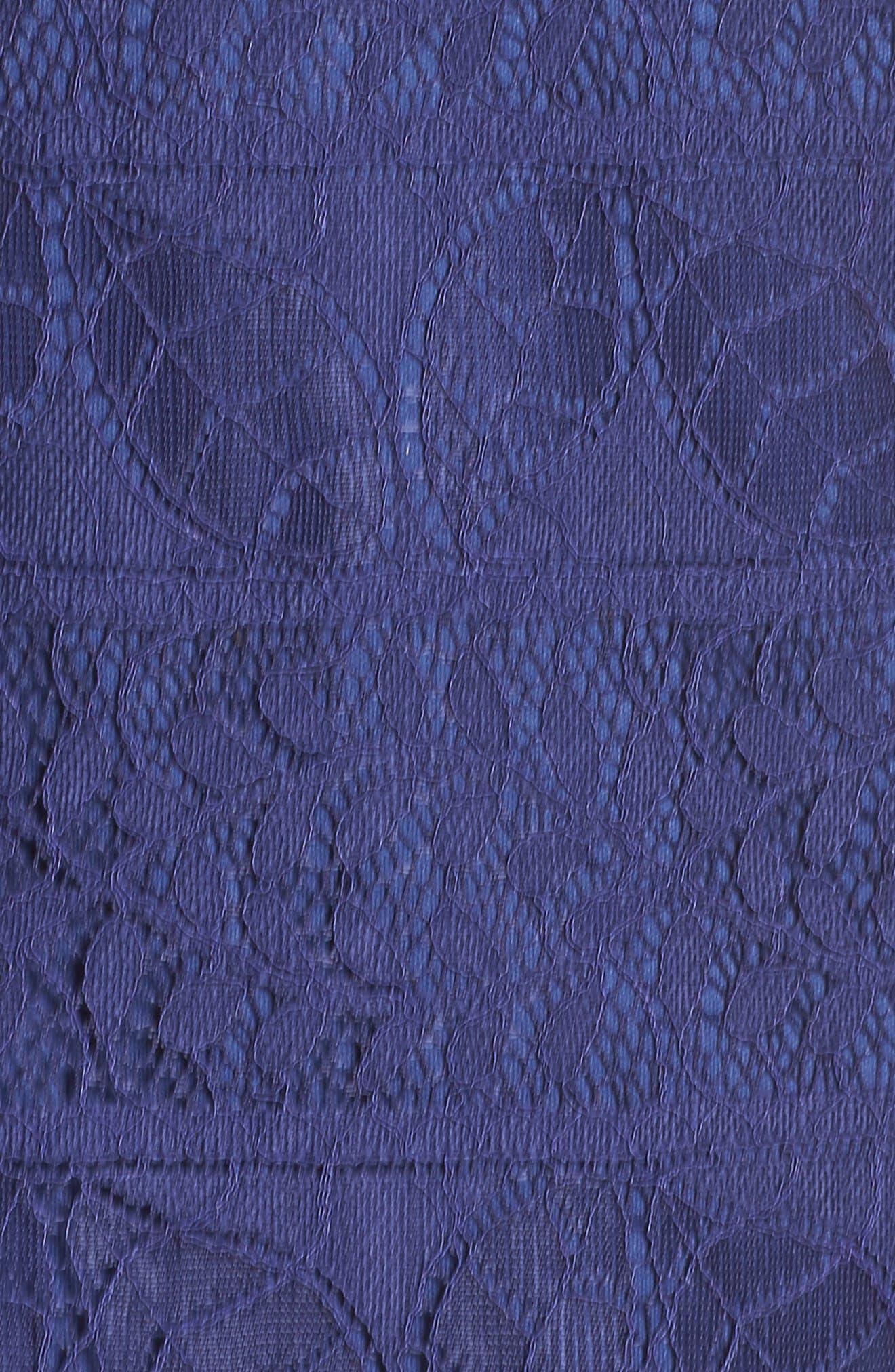Off the Shoulder Lace Dress,                             Alternate thumbnail 5, color,                             Navy