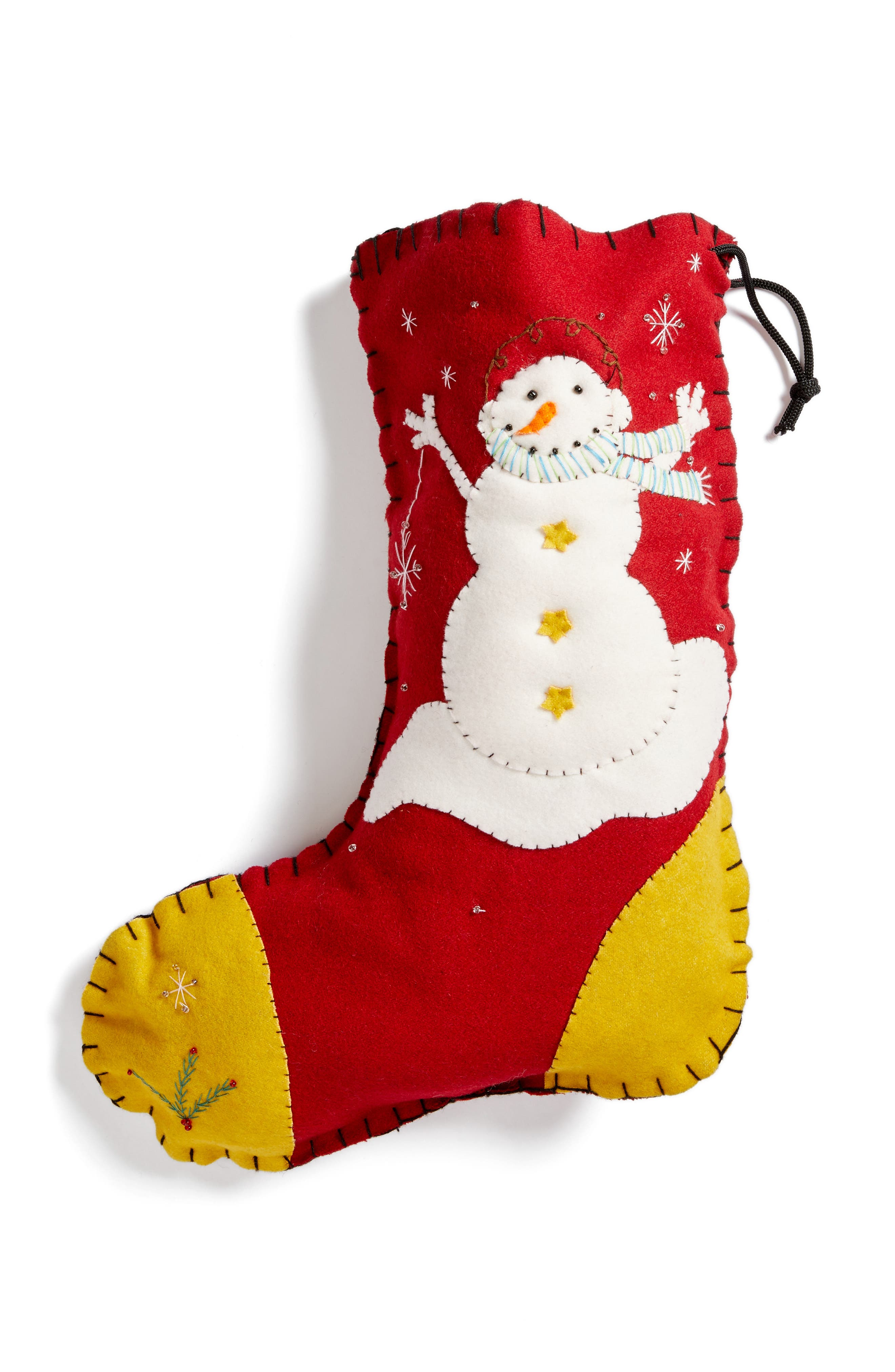 Snowman Stocking,                         Main,                         color, Red