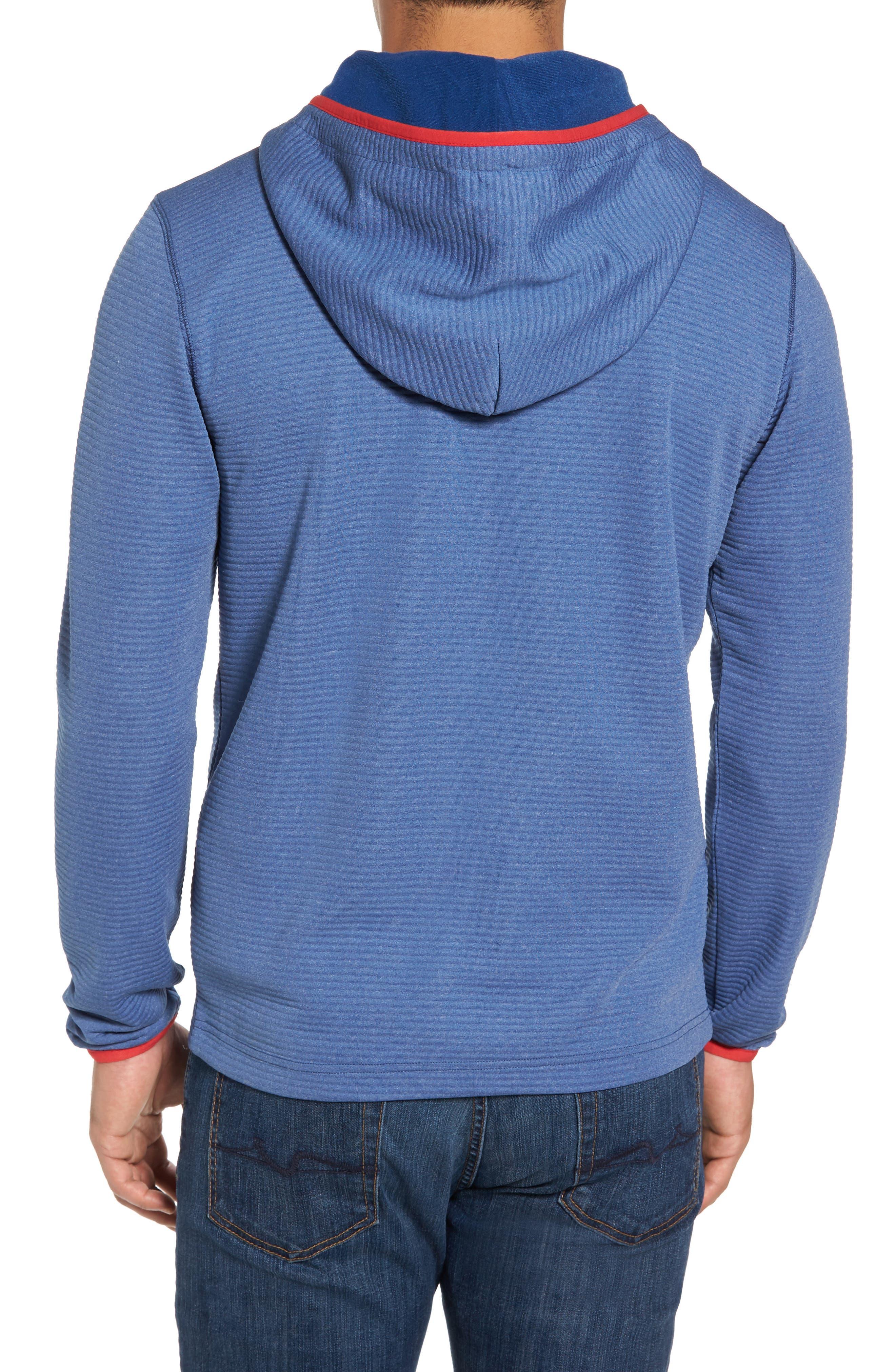 Furrow Quarter Zip Hoodie,                             Alternate thumbnail 2, color,                             Seven Seas Blue