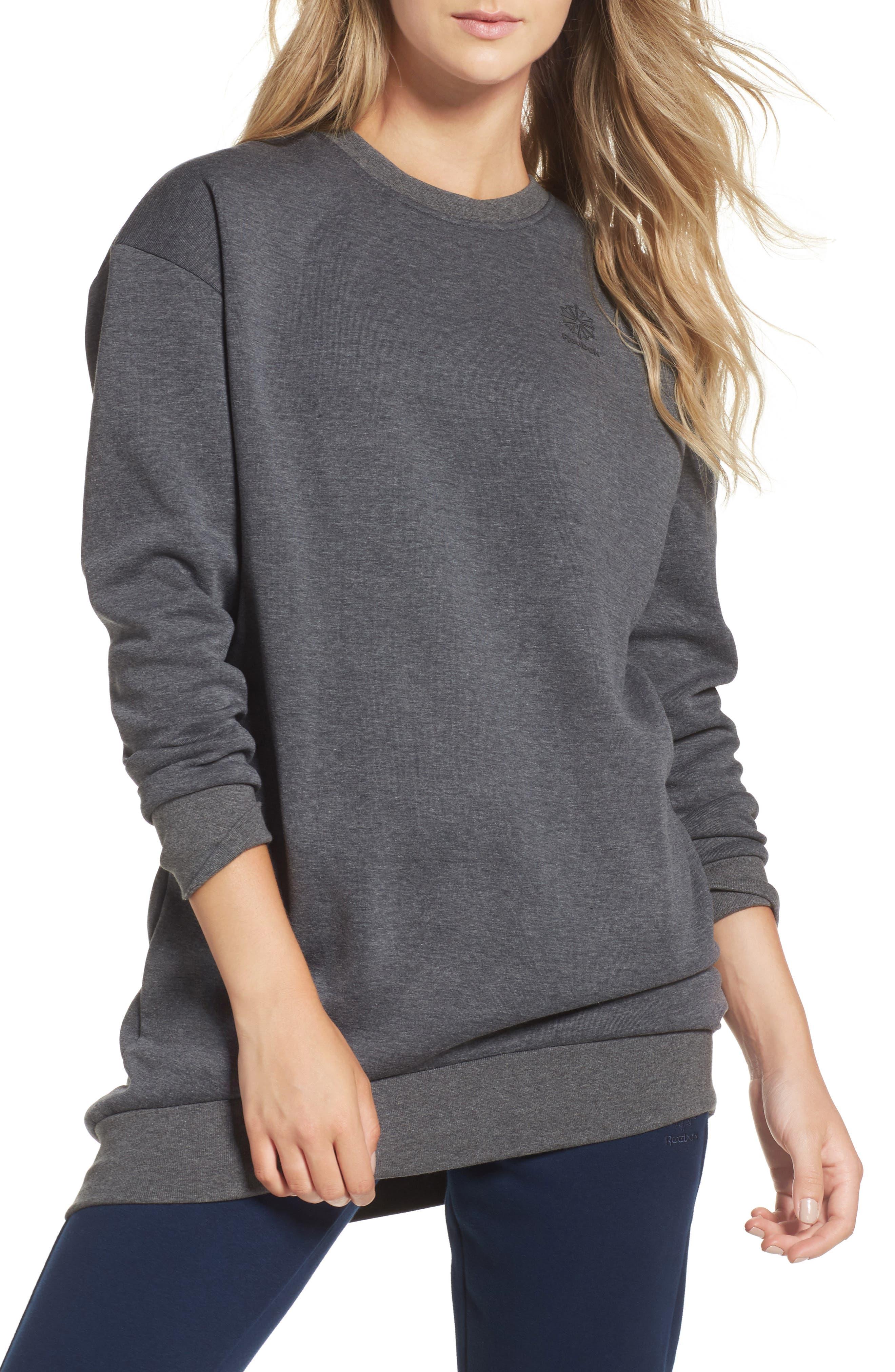 Oversize Sweatshirt,                             Main thumbnail 1, color,                             Dark Grey Heather