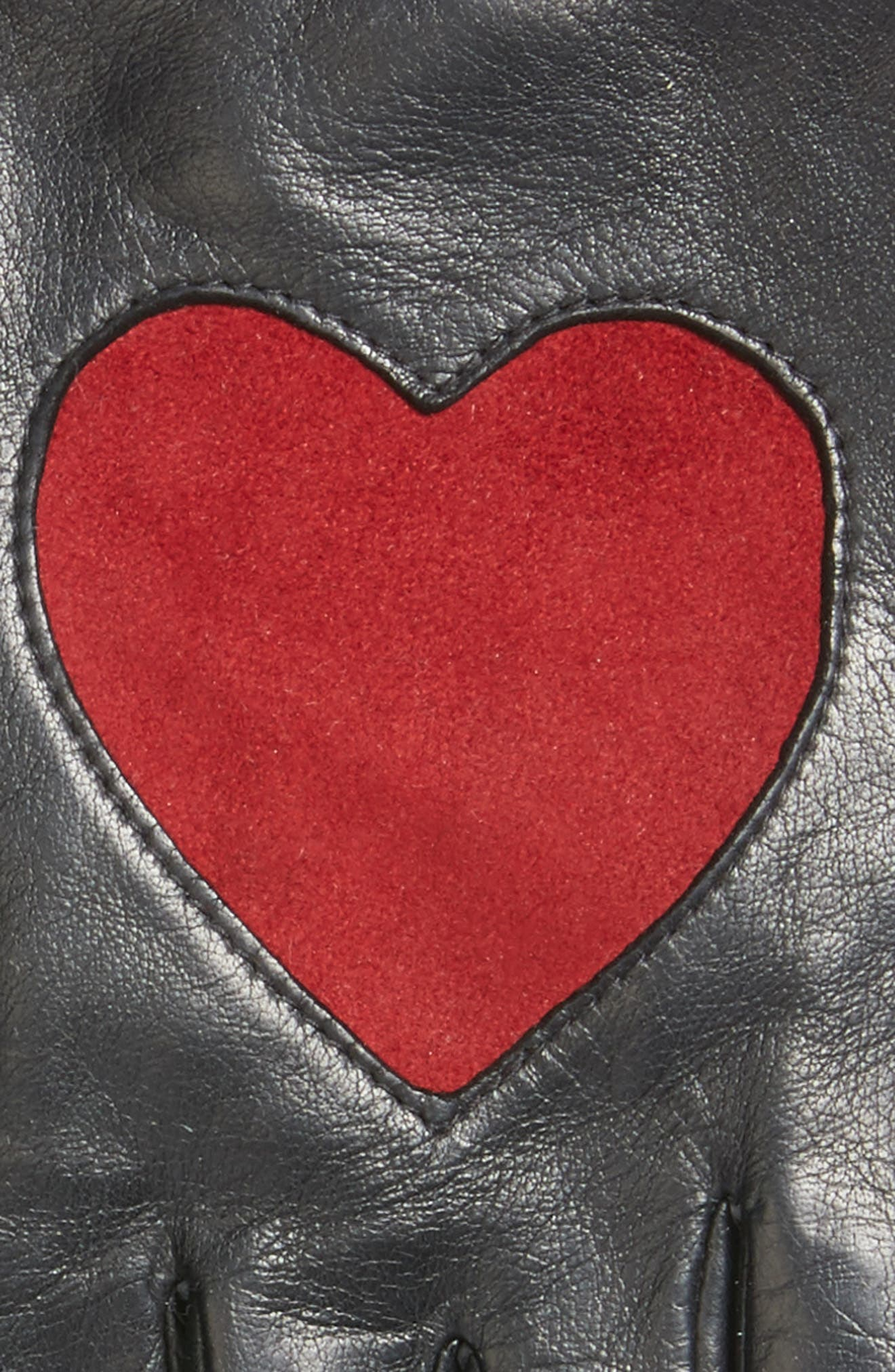 Alternate Image 2  - Fownes Brothers Heart Leather Gloves