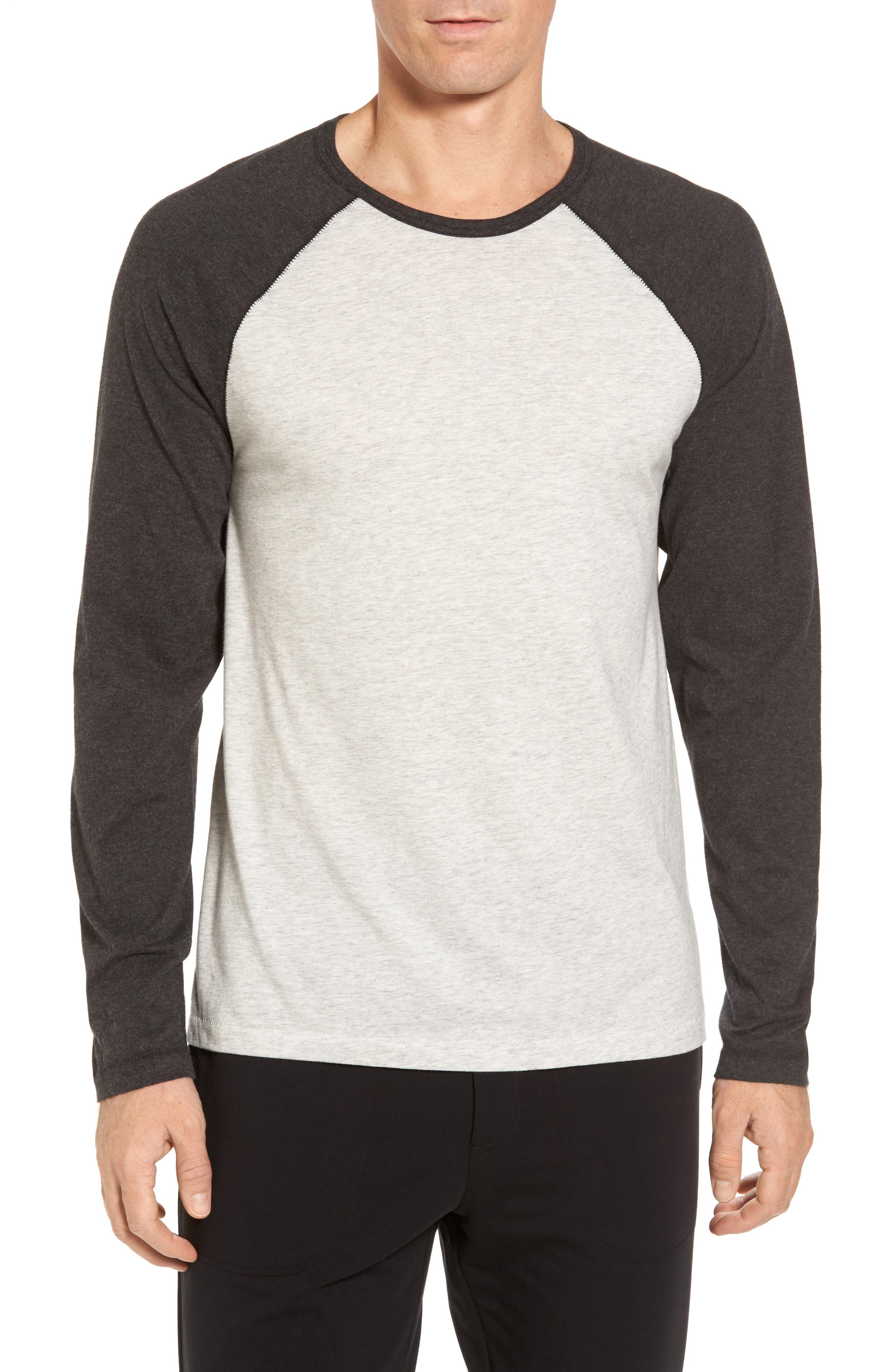 Stefan Raglan T-Shirt,                         Main,                         color, Seal Heather/ Black Bear