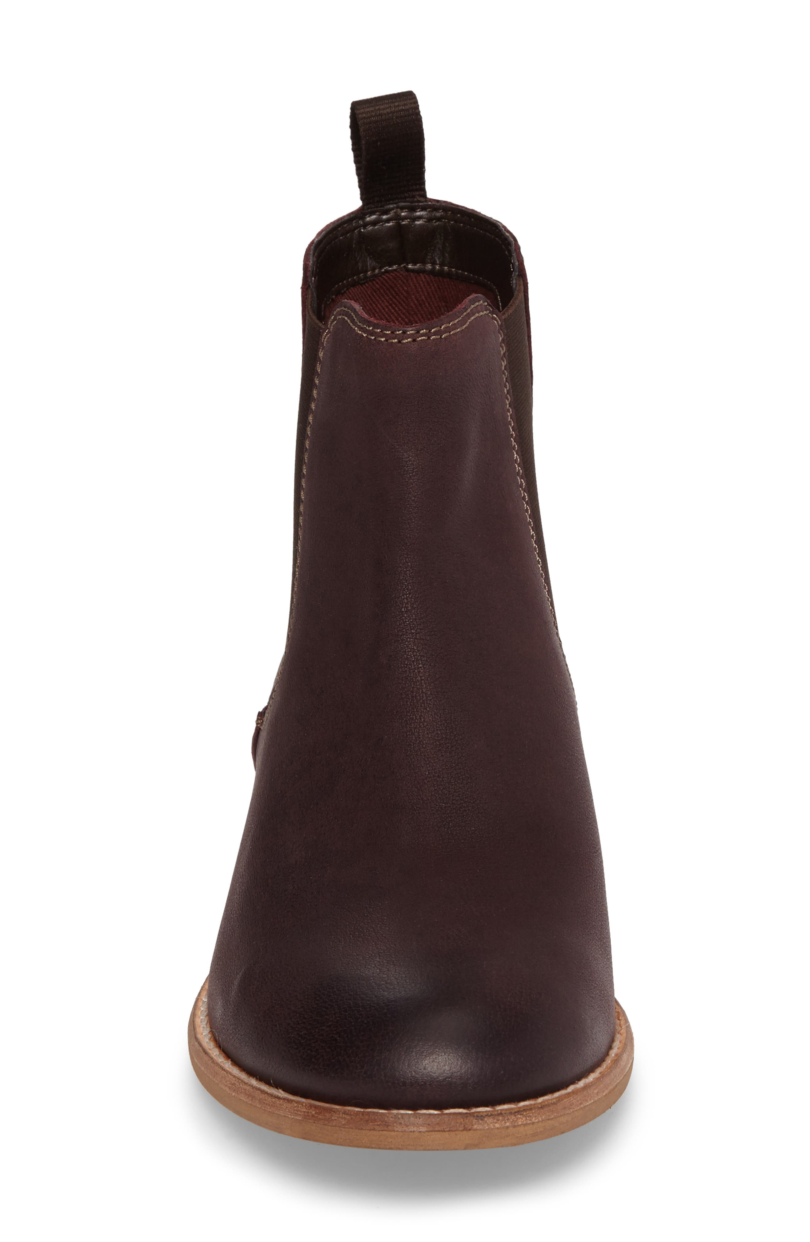 Maypearl Nala Bootie,                             Alternate thumbnail 4, color,                             Burgundy Leather