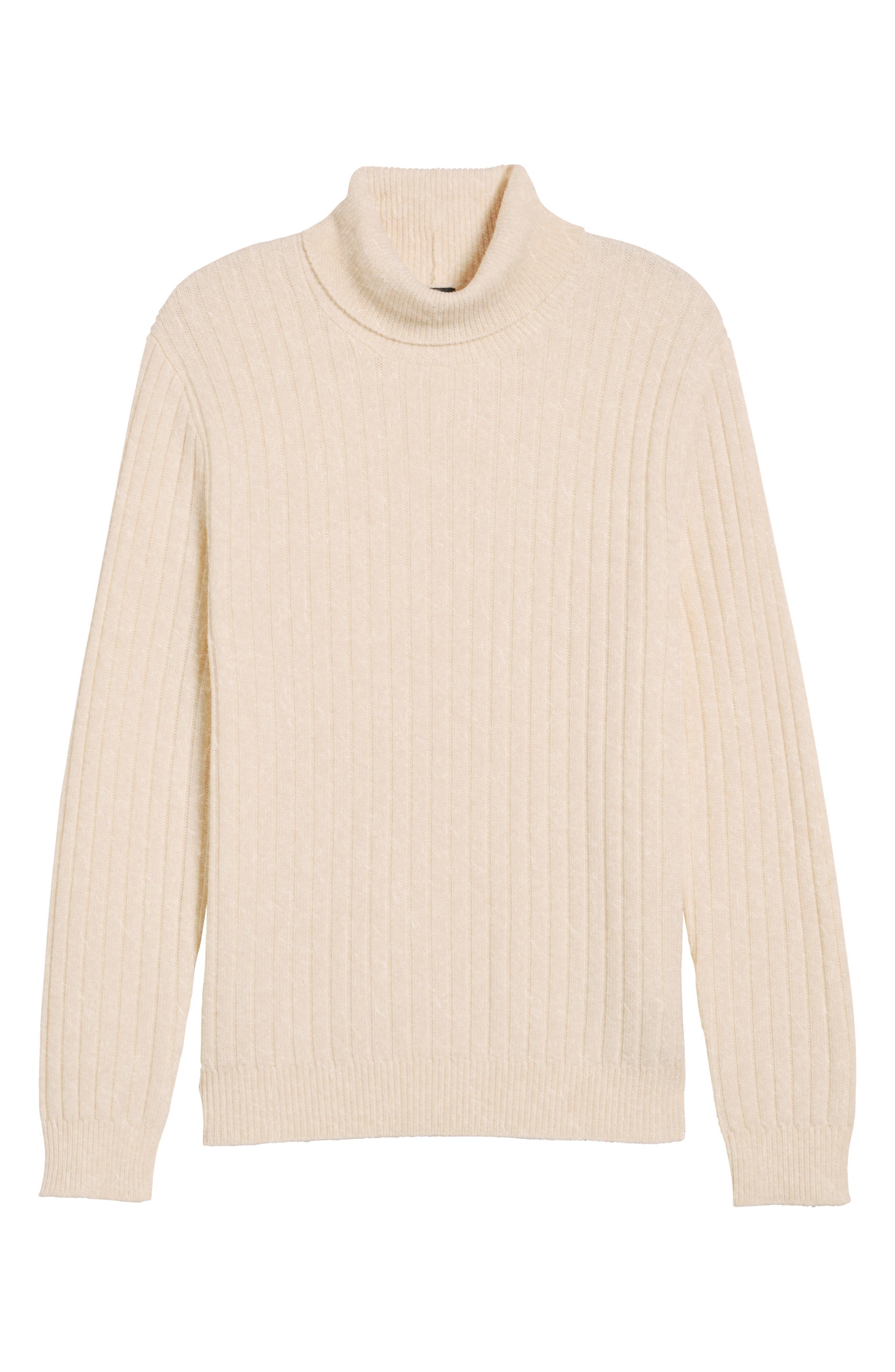 Alternate Image 6  - Eleventy Ribbed Turtleneck Wool Sweater